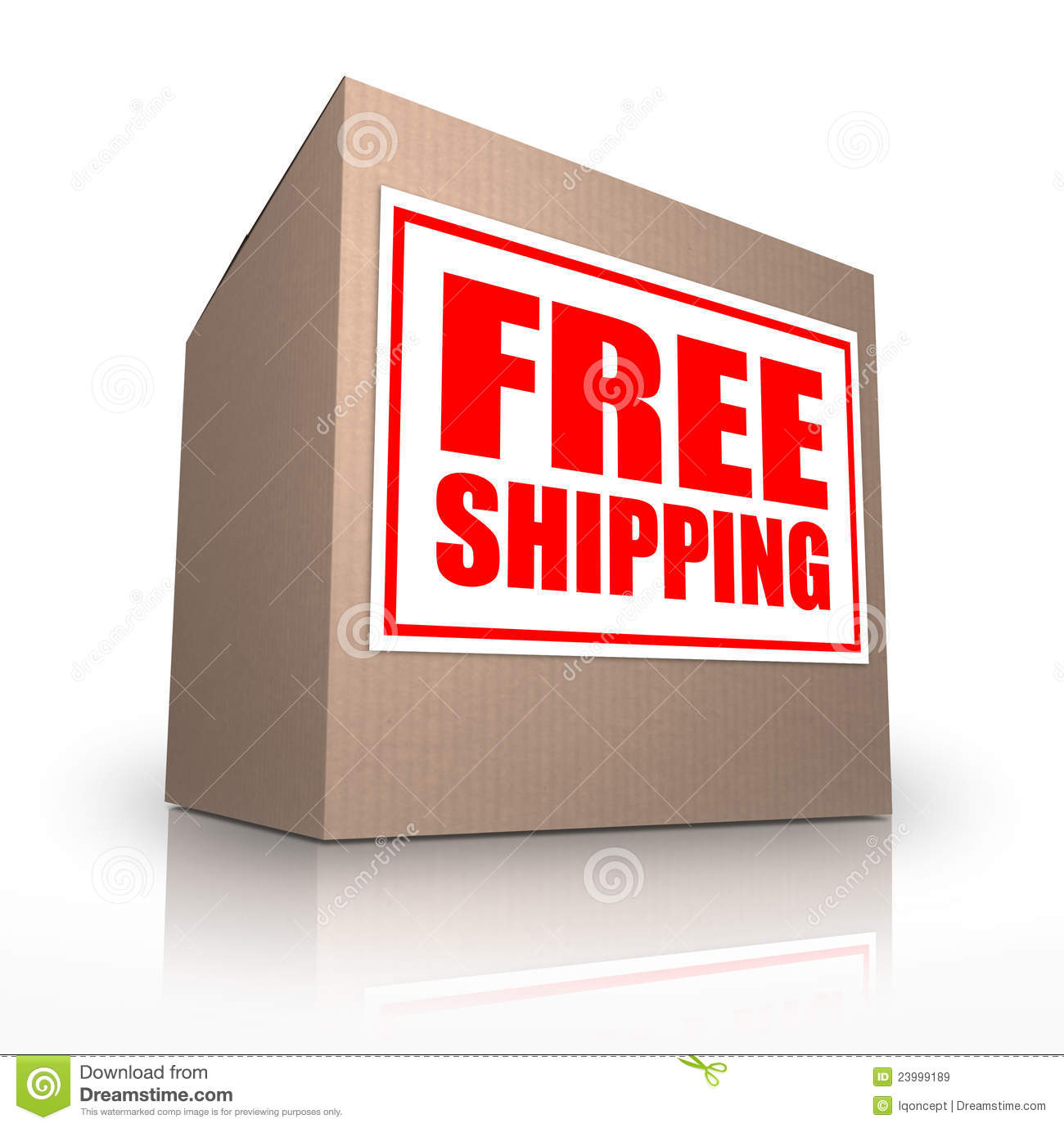 Free Shipping Cardboard Box Ship No Cost Royalty Free Stock Images ...: dreamstime.com/royalty-free-stock-images-free-shipping-cardboard...