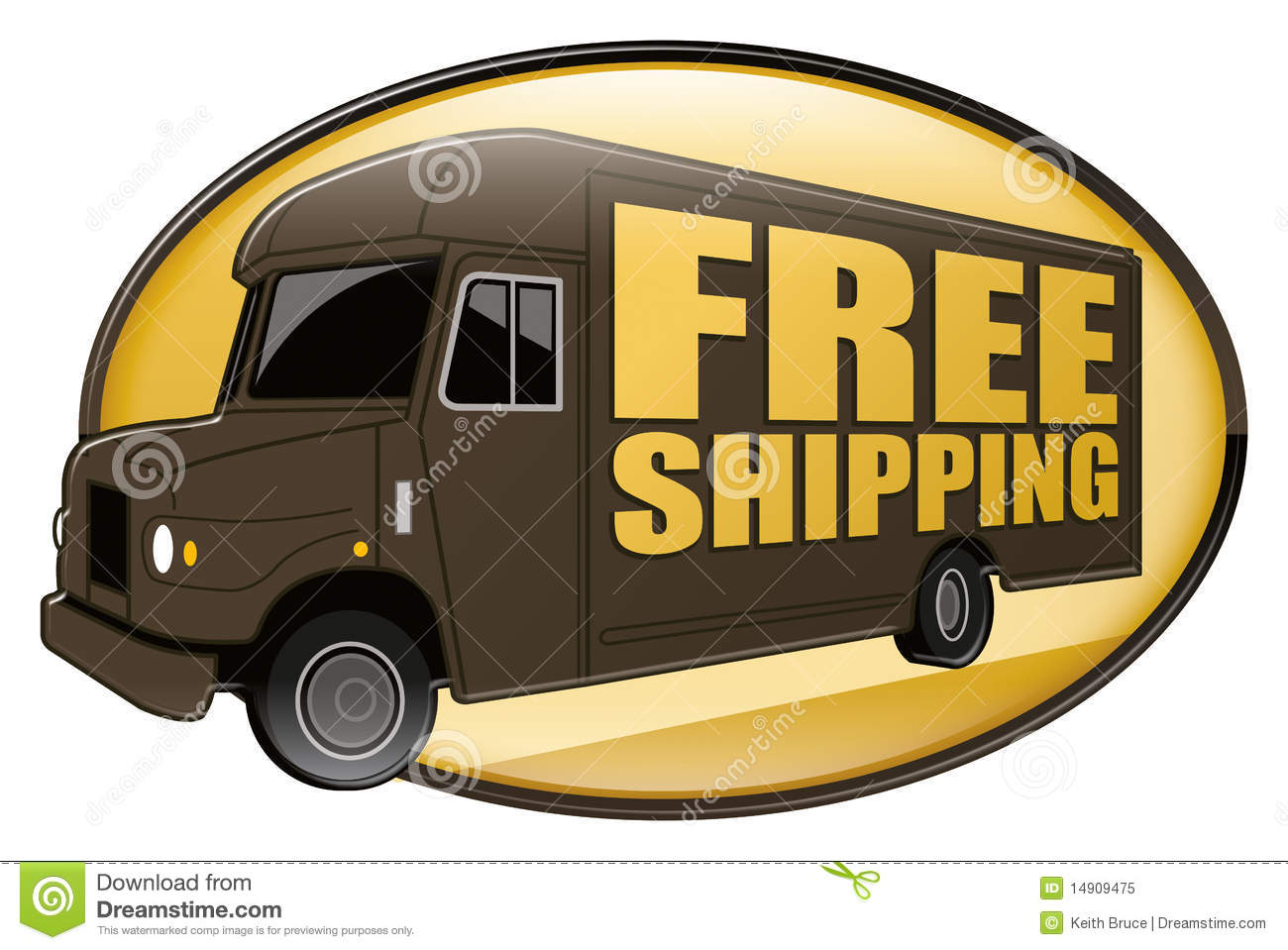 Free Shipping Delivery Truck Brown Royalty Free Stock Photo - Image: 14909475  Free Shipping D...