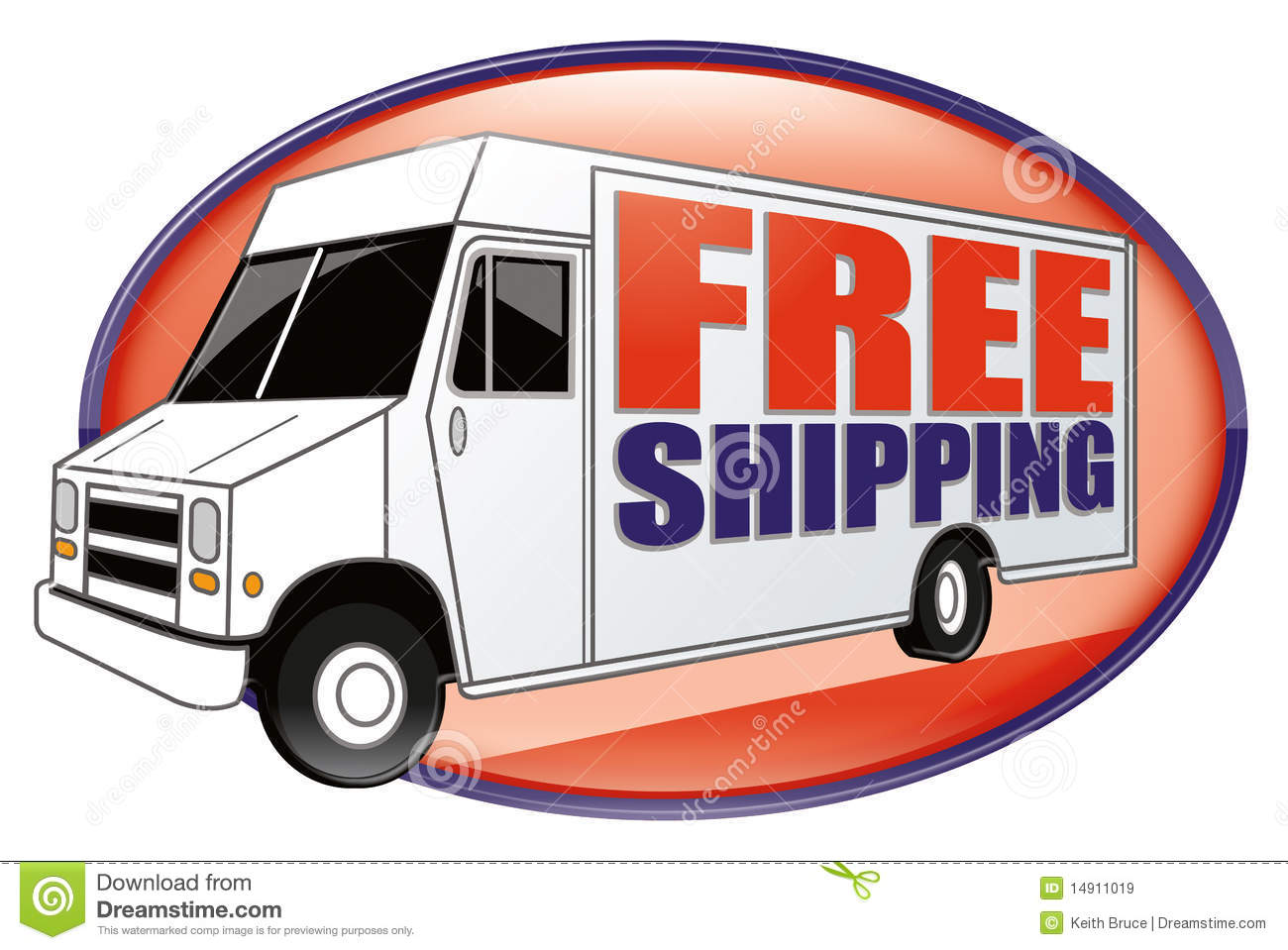 Free Shipping Delivery Truck White
