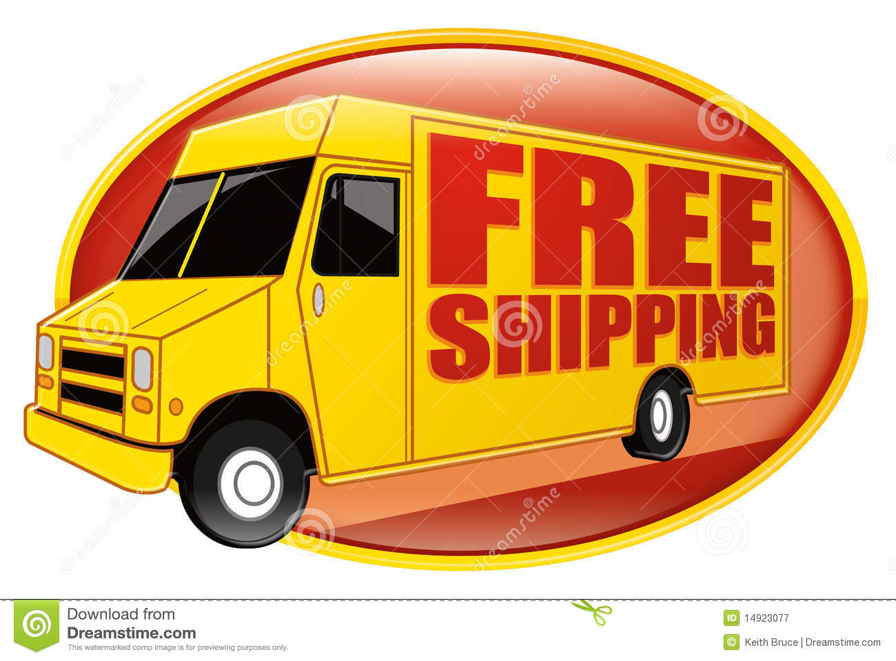 Free Shipping Delivery Truck Yellow Royalty Free Stock Photography - Image: 14923077  Free Shipping D...