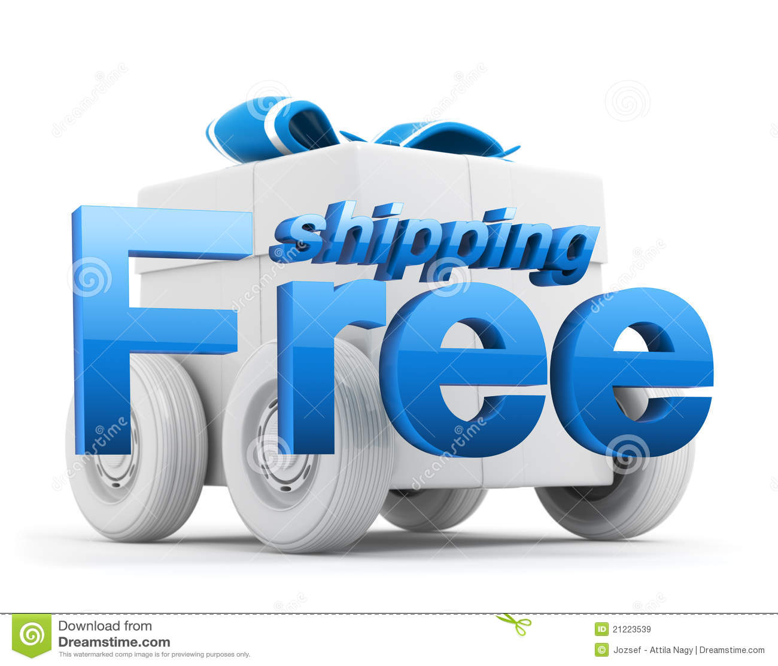 Free shipping icon gift box blue stock illustration royalty free stock photo negle Choice Image