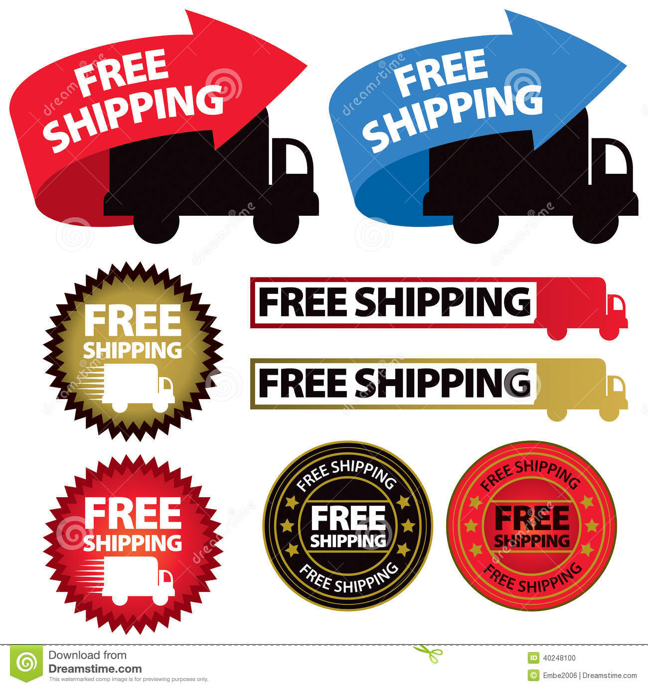 Free Shipping Icon Vector Image 40248100 – Free Printable Shipping Label