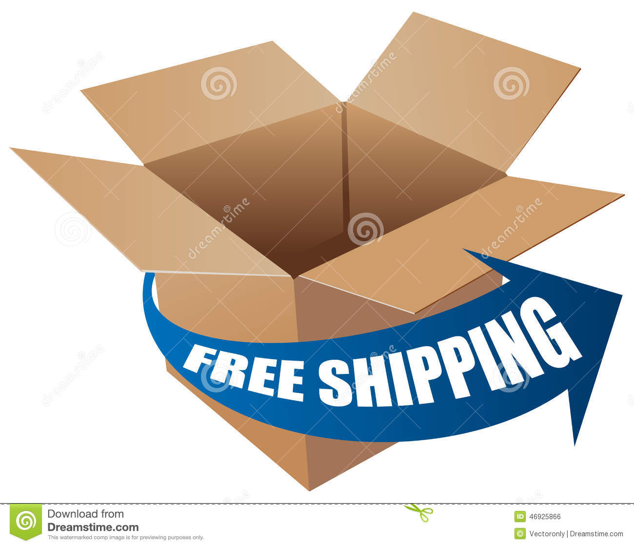 Free Shipping Stock Vector - Image: 46925866