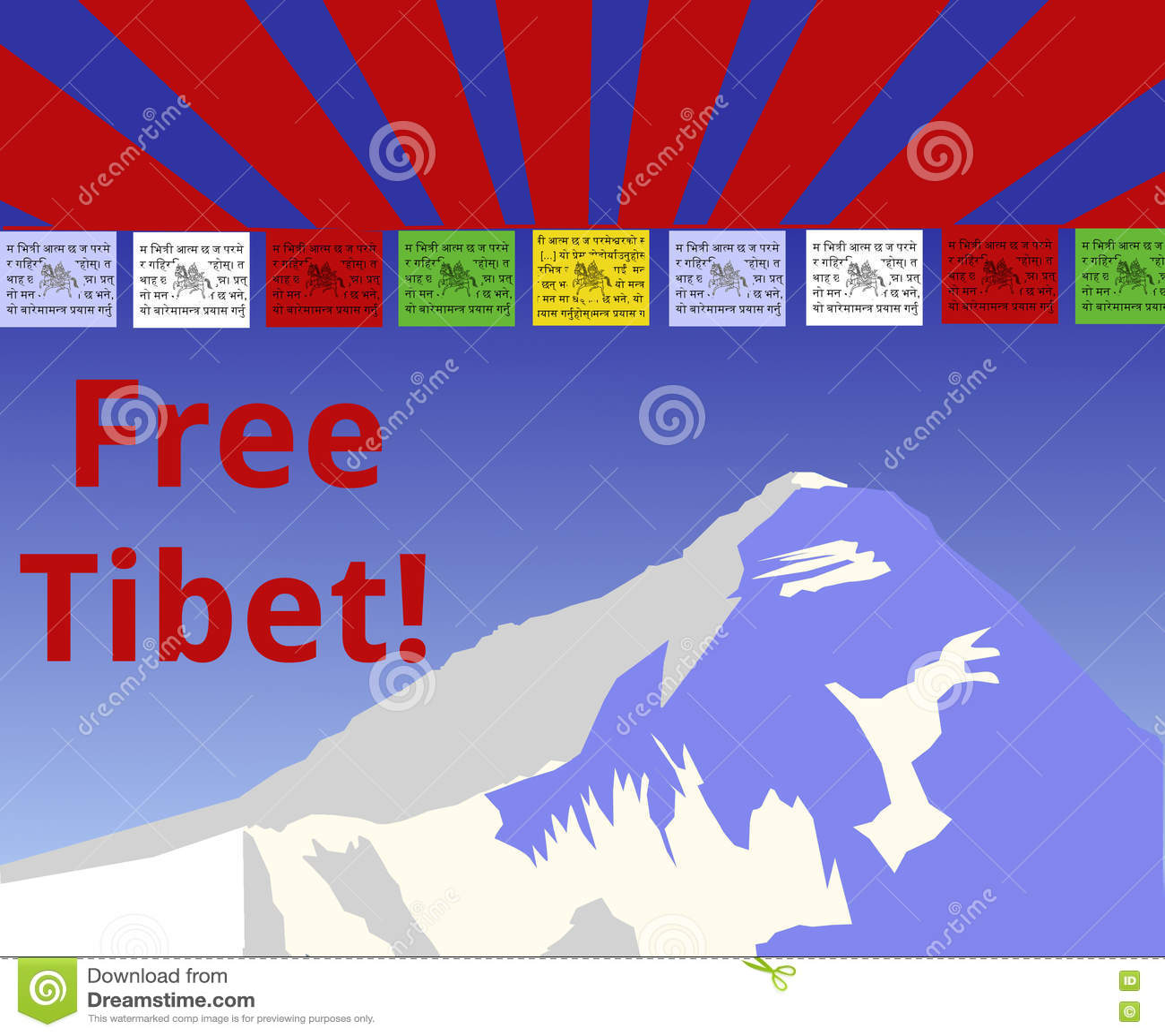 Free Tibet Stock Vector Illustration Of Tibetian Symbol 72162814