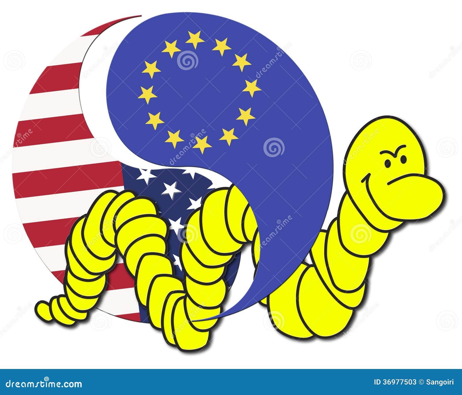 Free Trade Agreement Usa And Eu Stock Illustration Illustration Of