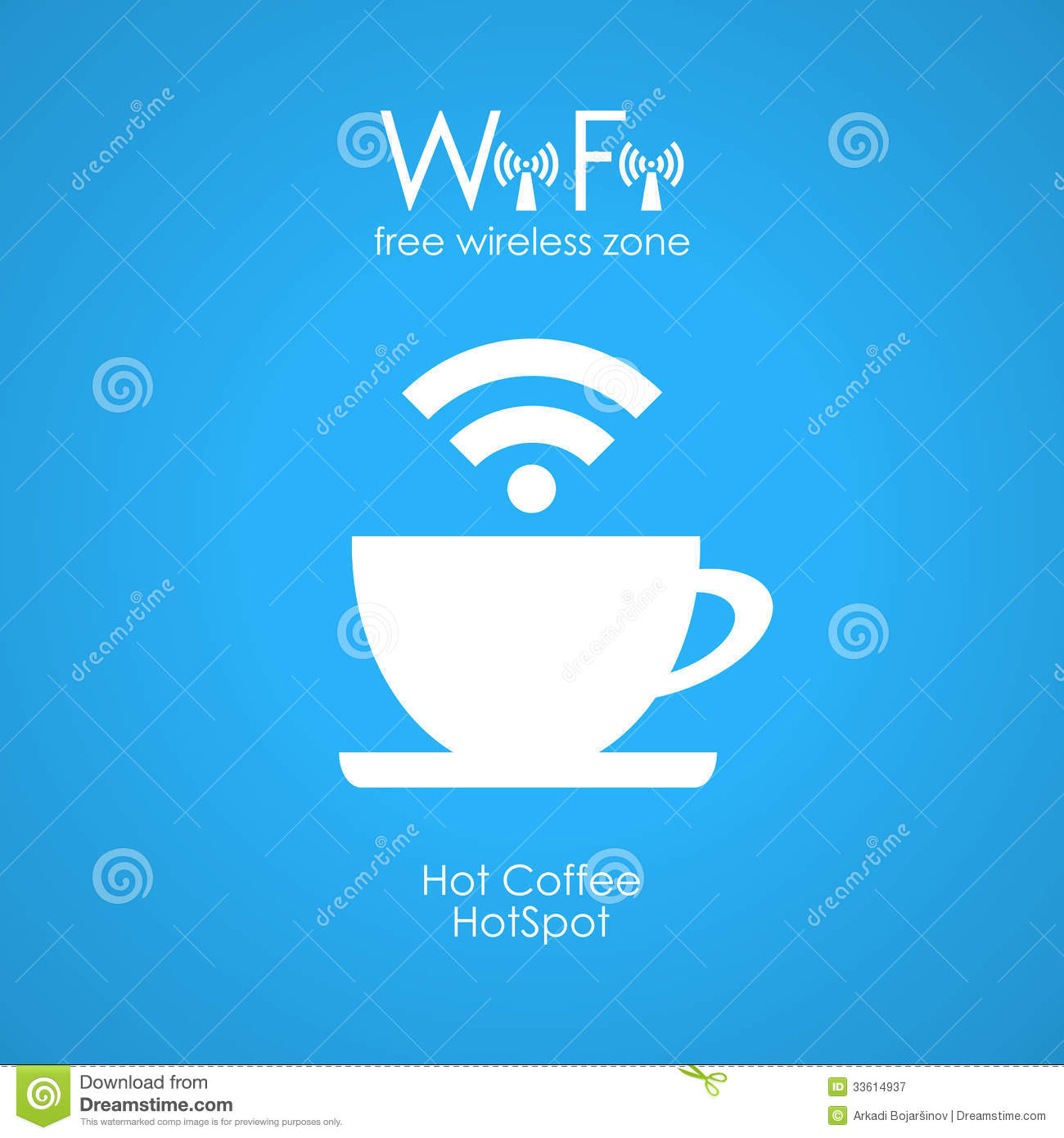 Free Wifi Cafe Poster Royalty Free Stock Photography