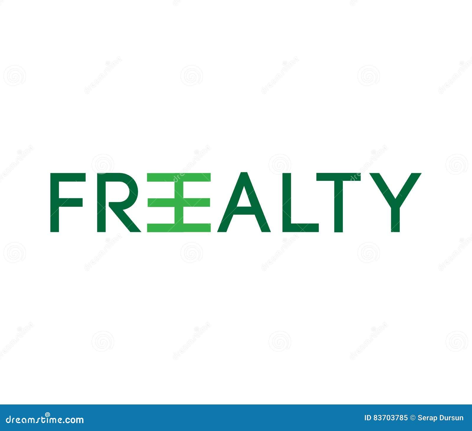 Freealty Concept Logo Design Stock Vector