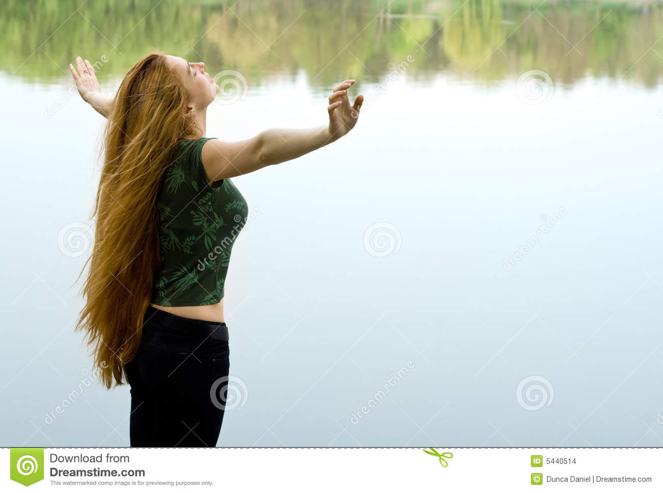 Download Freedom Concept - Woman Wanting To Fly Stock Photo - Image of emotion, beautiful: 5440514