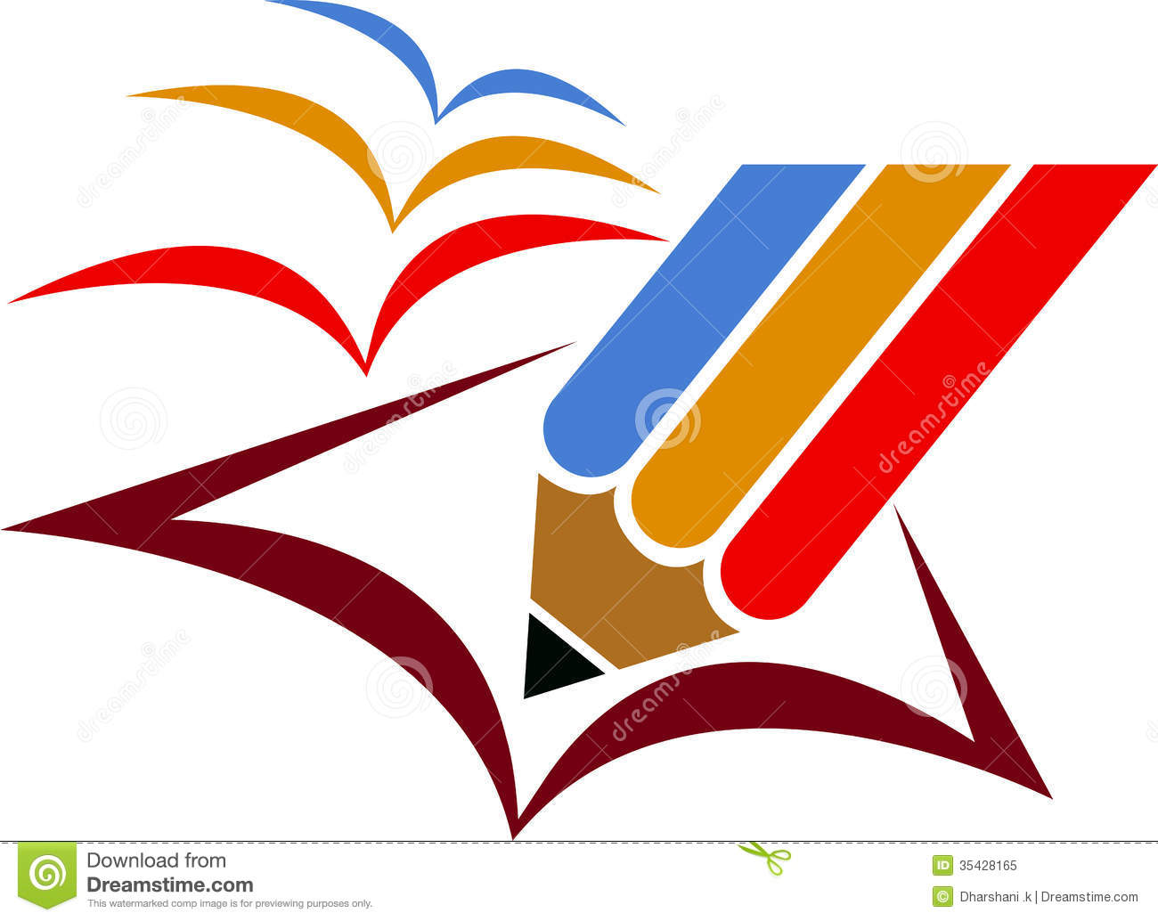 Illustration art of a freedom education logo with isolated background.