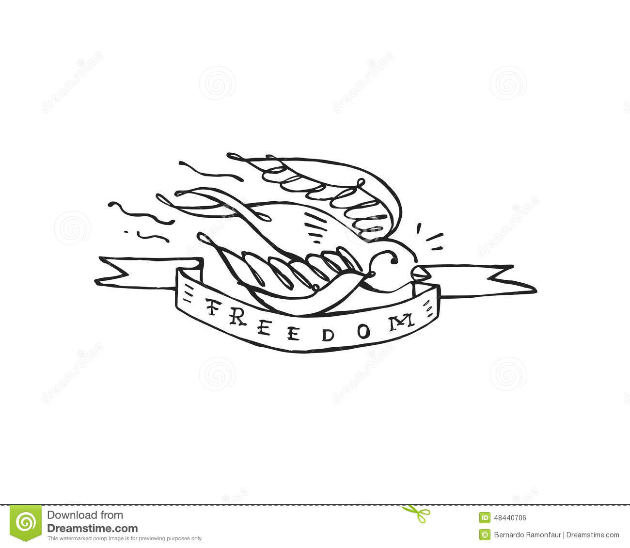 Freedom stock vector. Image of says, hand, freedom, wings ...