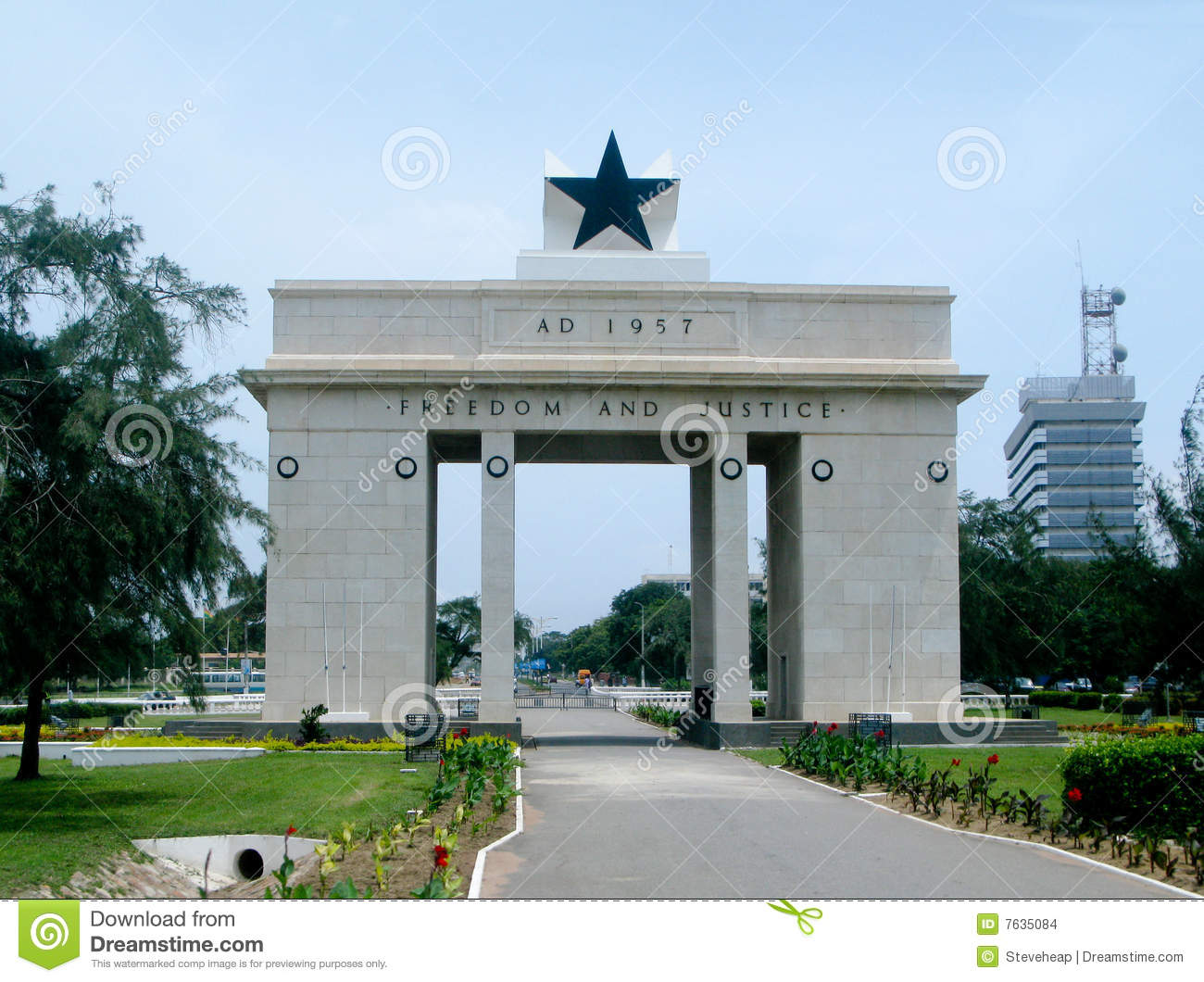 Freedom and Justice Arch in Accra in Ghana