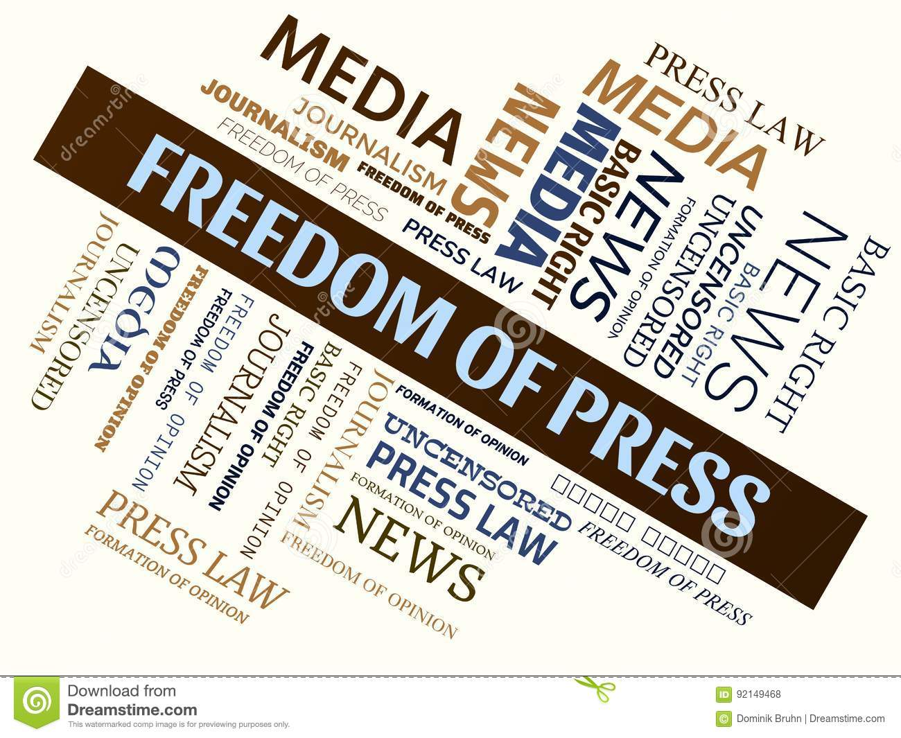 freedom of press Freedom of the press: of speech and of the press, particularly as that freedom permits an informed access to information and opinions about political matters even the more repressive regimes today recognize this underlying principle, in that their ruling bodies try to make certain that they.