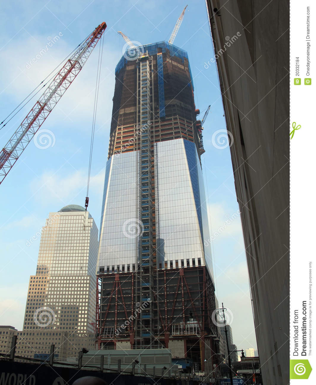 Freedom Tower construction editorial stock image. Image of ...