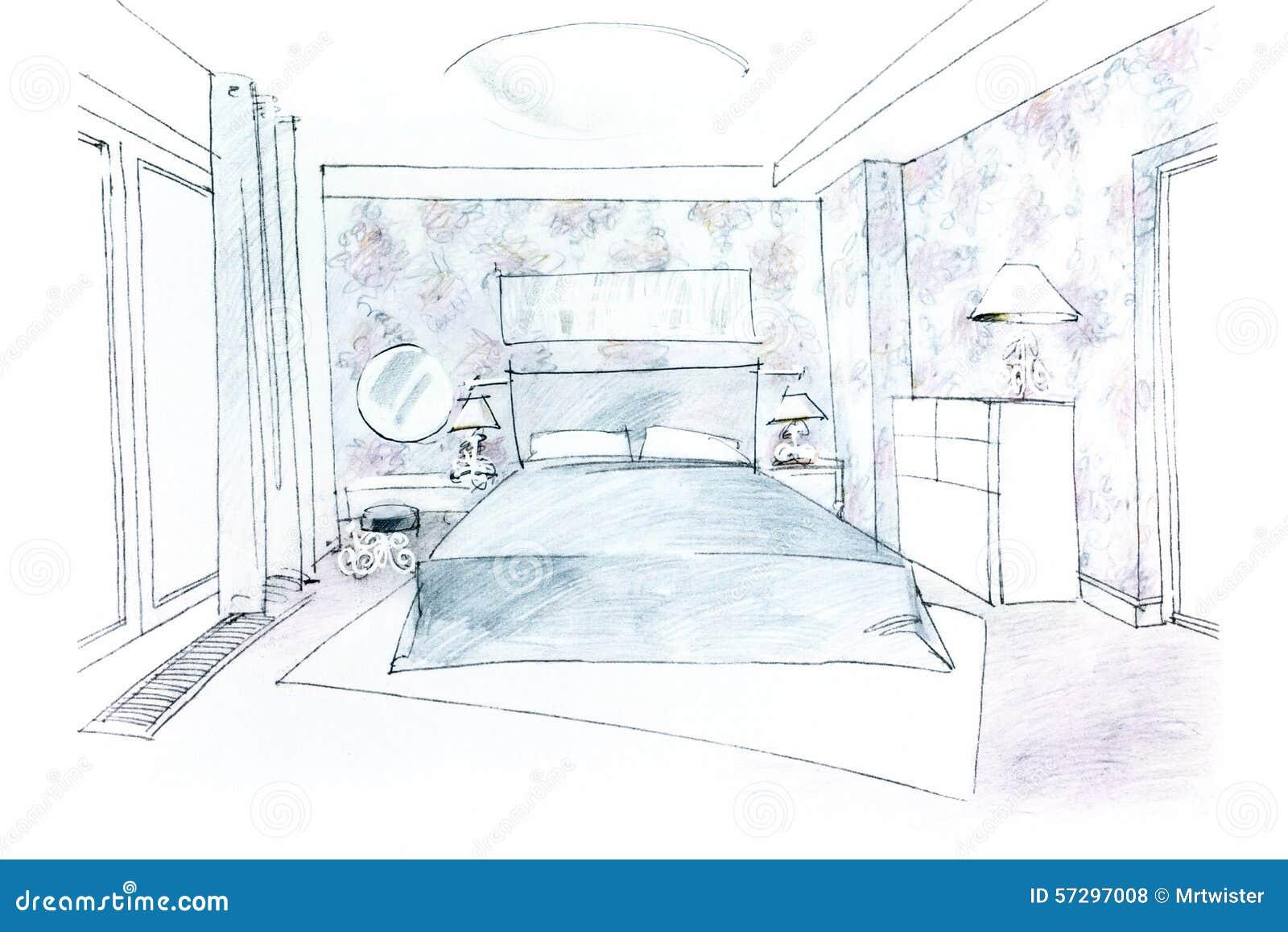 Freehand bedroom picture stock illustration illustration - Camera per bambina ...