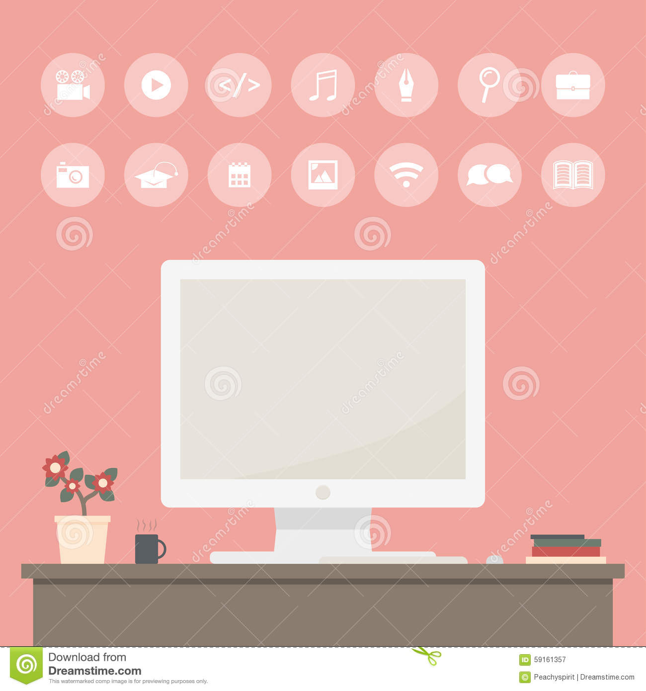 freelance infographic template icons set modern computer home office design elements flat style 59161357 senior home care business plan sample photo home design,Business Plan For Senior Home Care