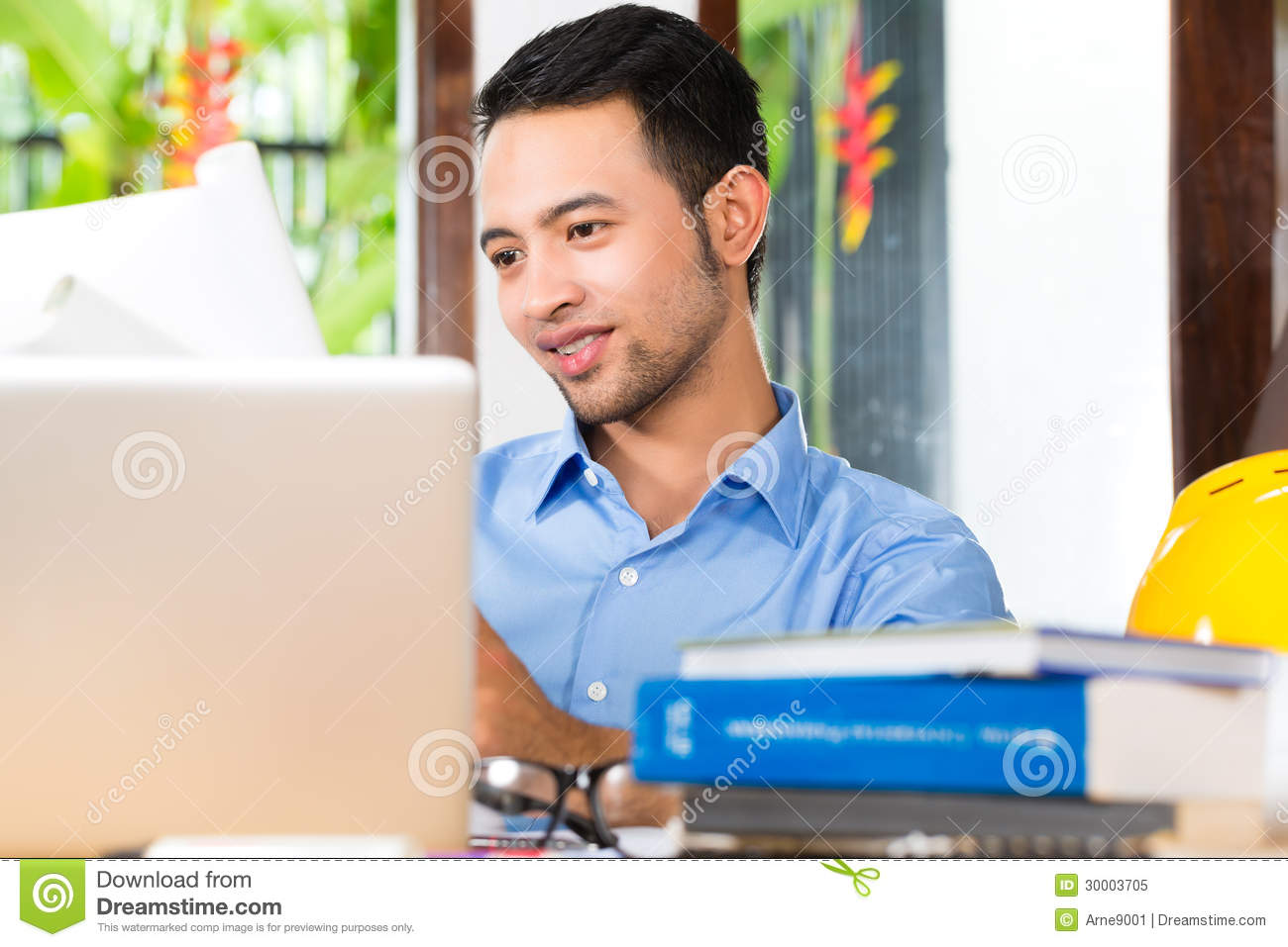 Architect Working At Home Royalty Free Stock Photo Image