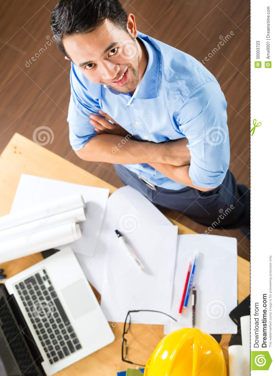 Architect Working At Home Stock Photos Image 30003723