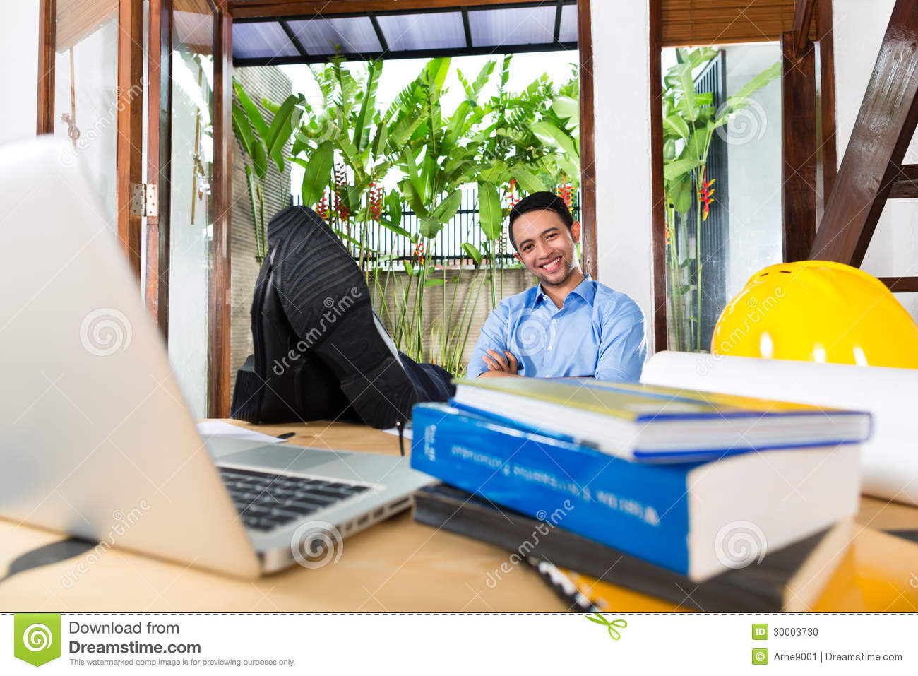 Architect Working At Home Stock Photo Image 30003730
