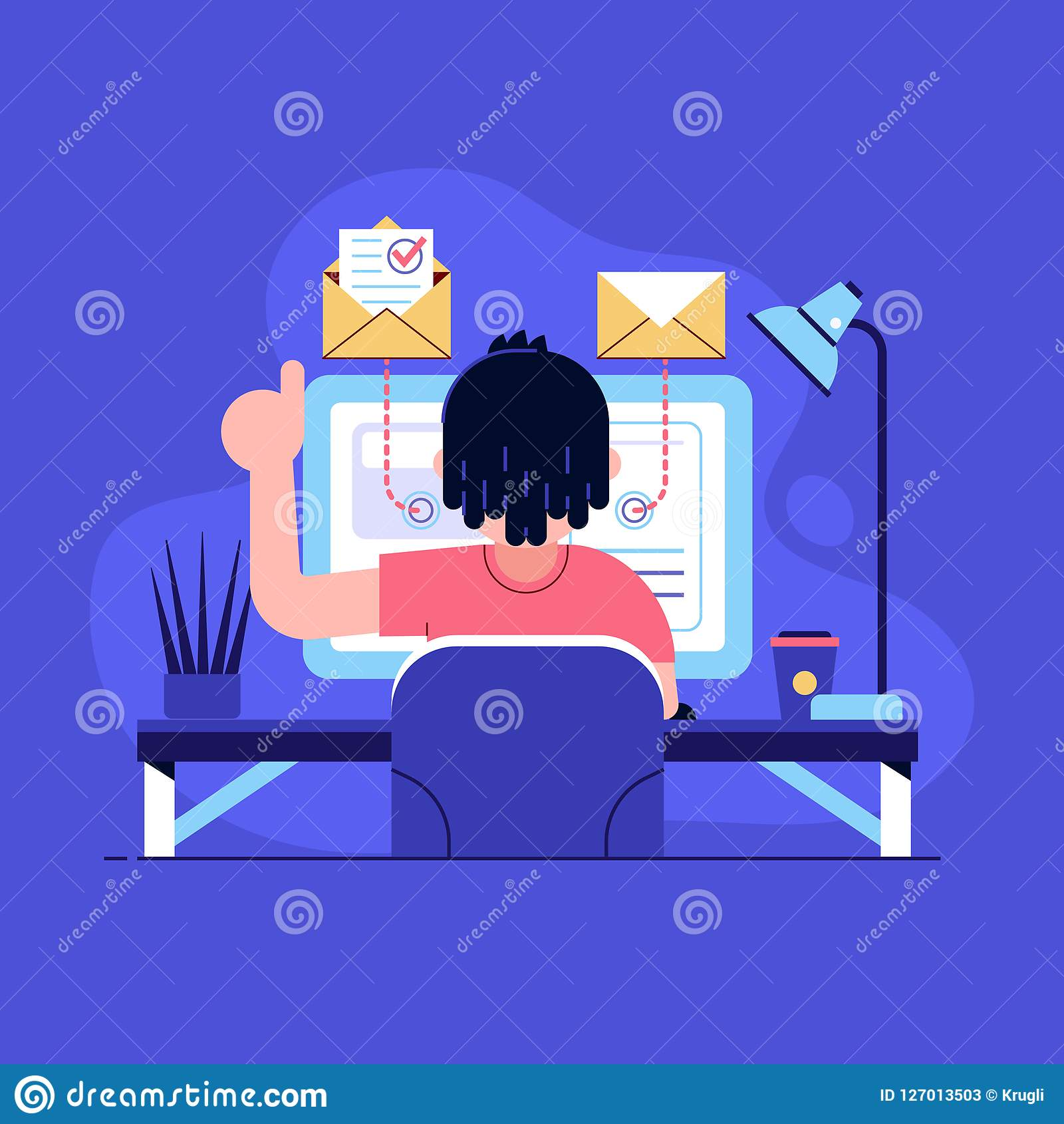 Freelancer Working on Laptop at Home
