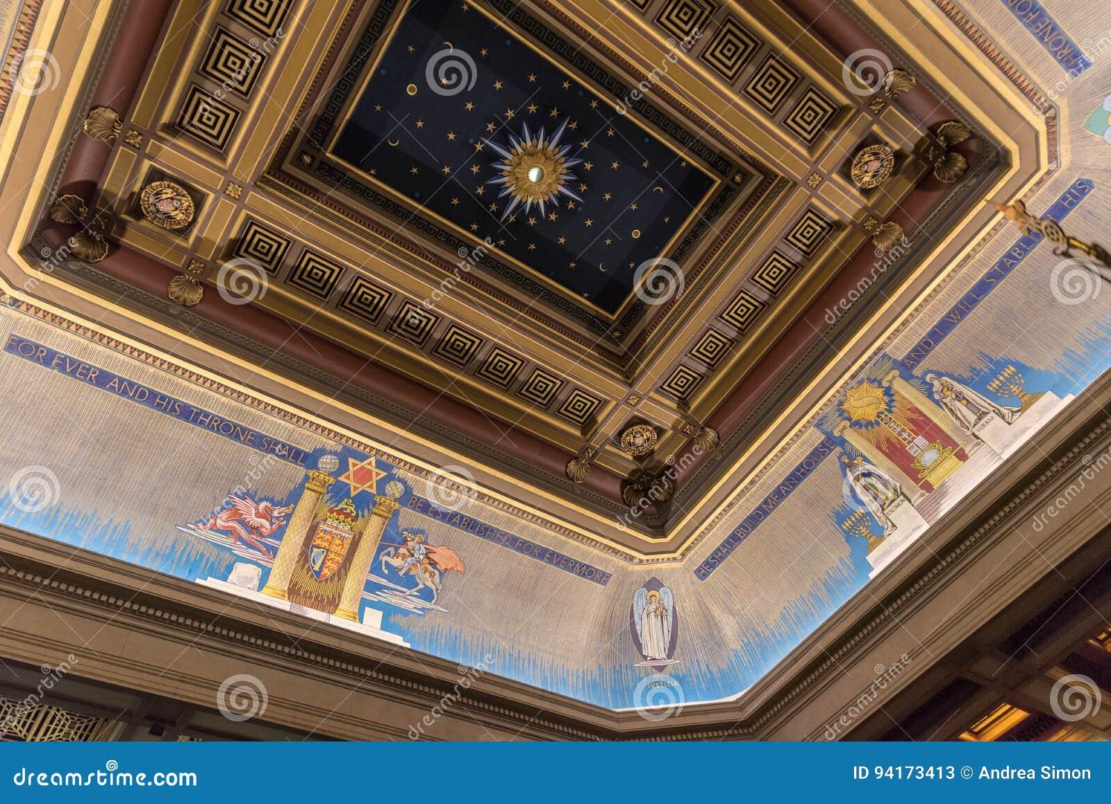 Freemasons Hall ceiling London