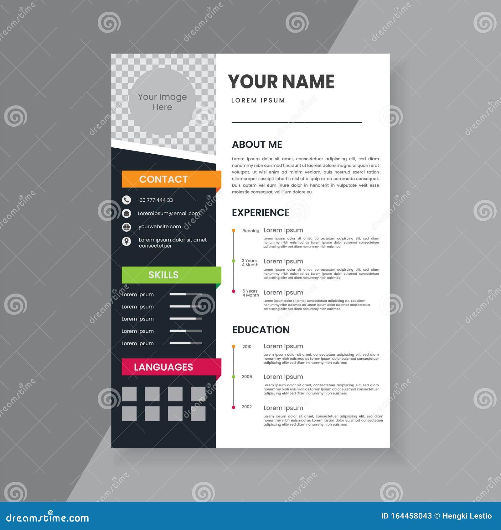 Creative Cv Design from thumbs.dreamstime.com