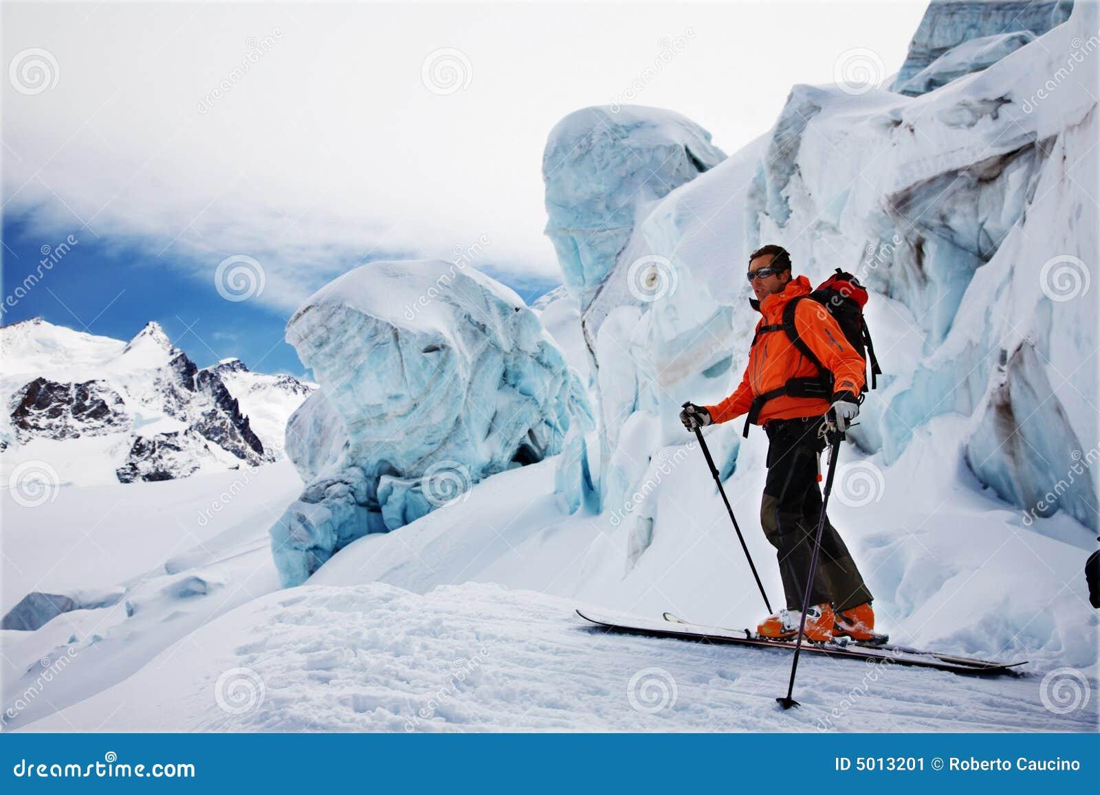Freerider Skifahrer