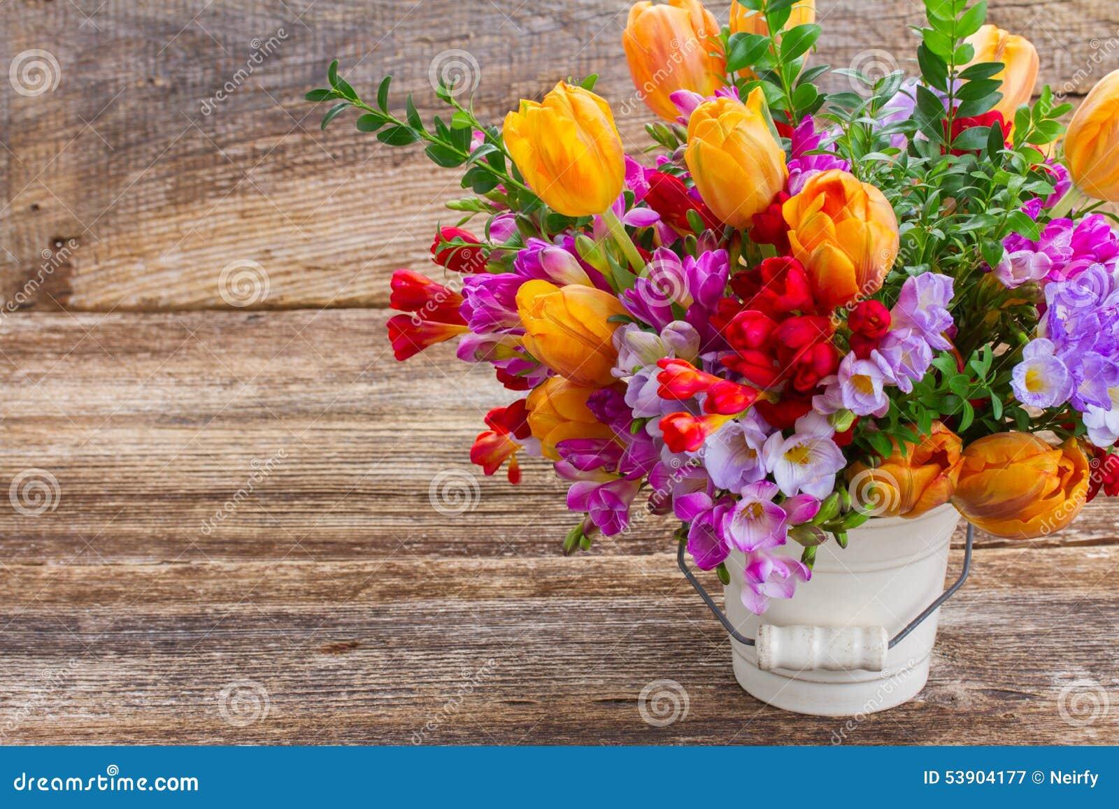 Freesia och blommor