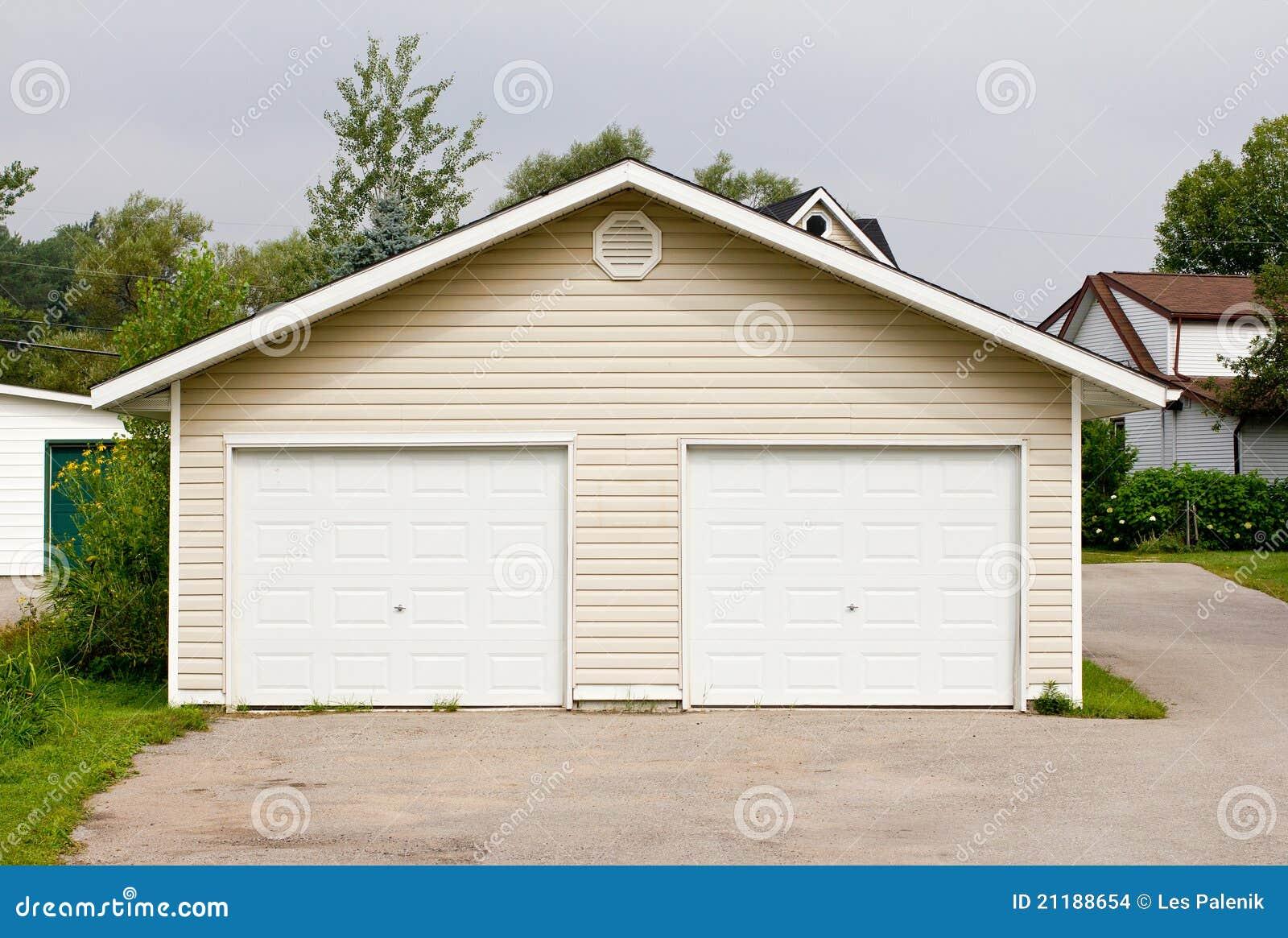 Freestanding double garage