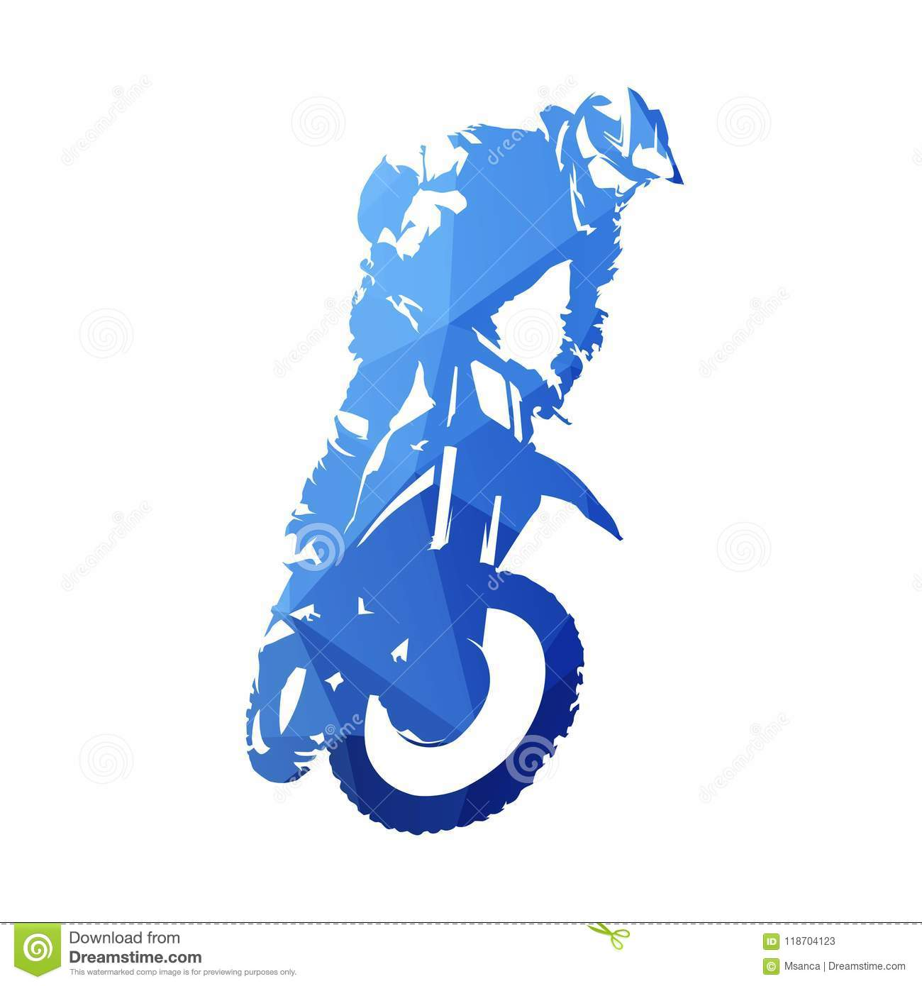 Freestyle Motocross Fmx Abstract Blue Geometric Vector Silhouette Stock Vector Illustration Of Motorcycle Ride 118704123