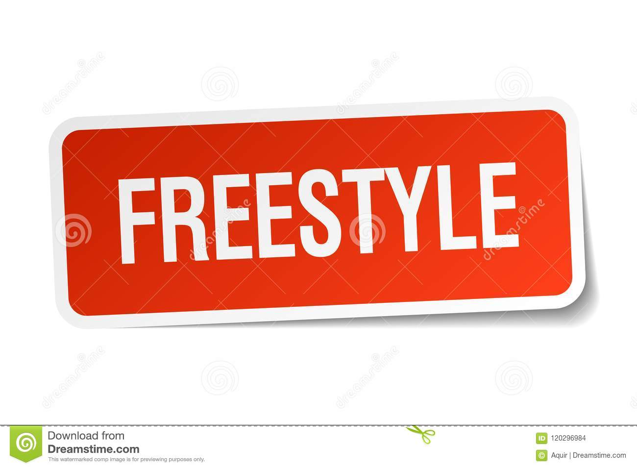 Freestyle Sticker Stock Vector  Illustration Of White