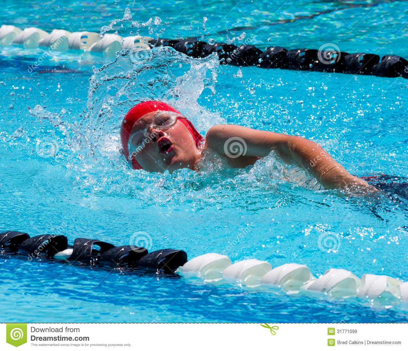Freestyle swim stock image image of splash heat water - Wetherby swimming pool swim times ...