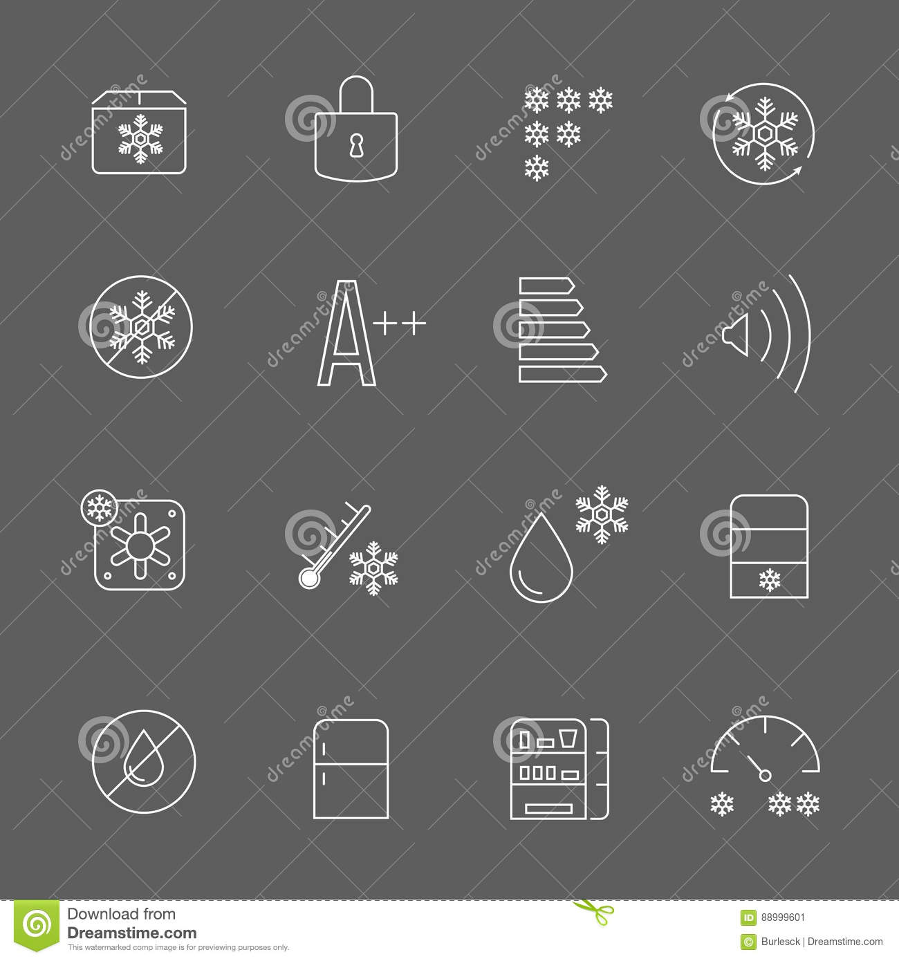 Freezing Signs And Freezer Symbols Refrigerator Functional Vector