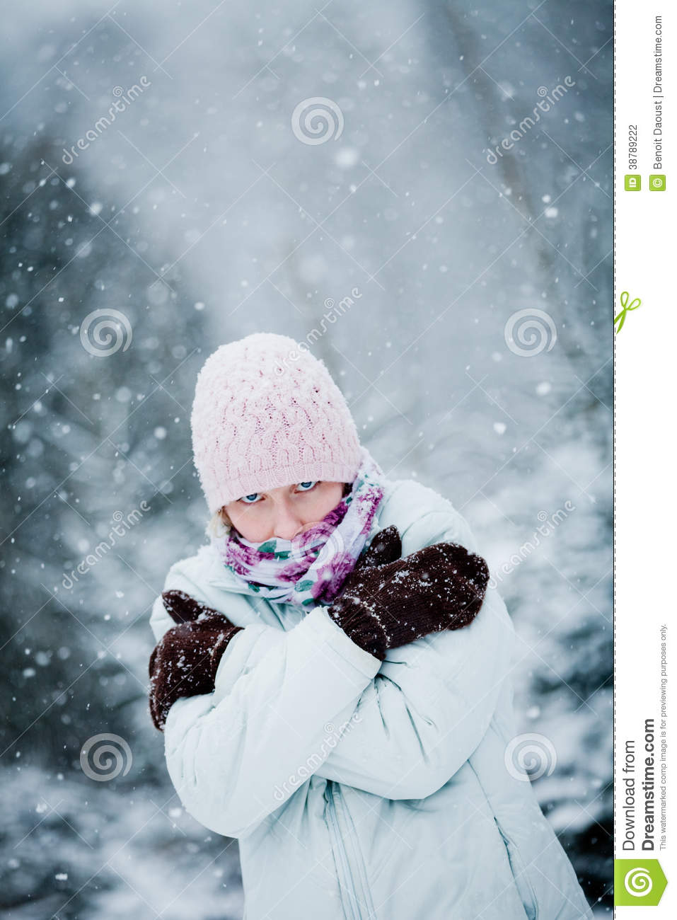 Freezing Cold Woman Freezing Woman During ...