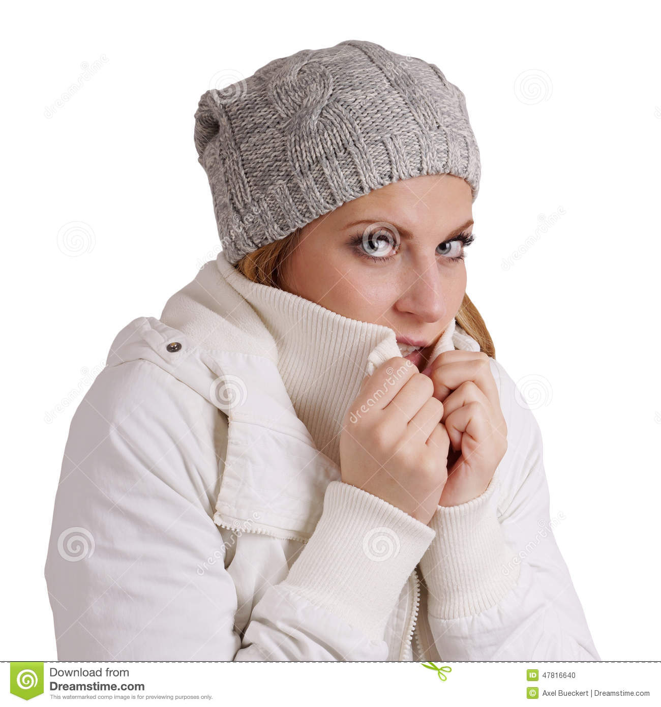 Freezing Cold Woman Freezing Stock Photo |...