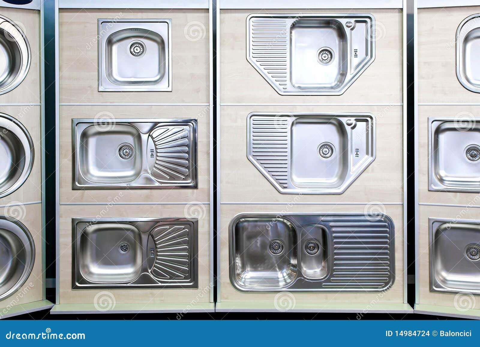 Fregaderos de cocina foto de archivo imagen de metal for Fregaderos de porcelana para cocina