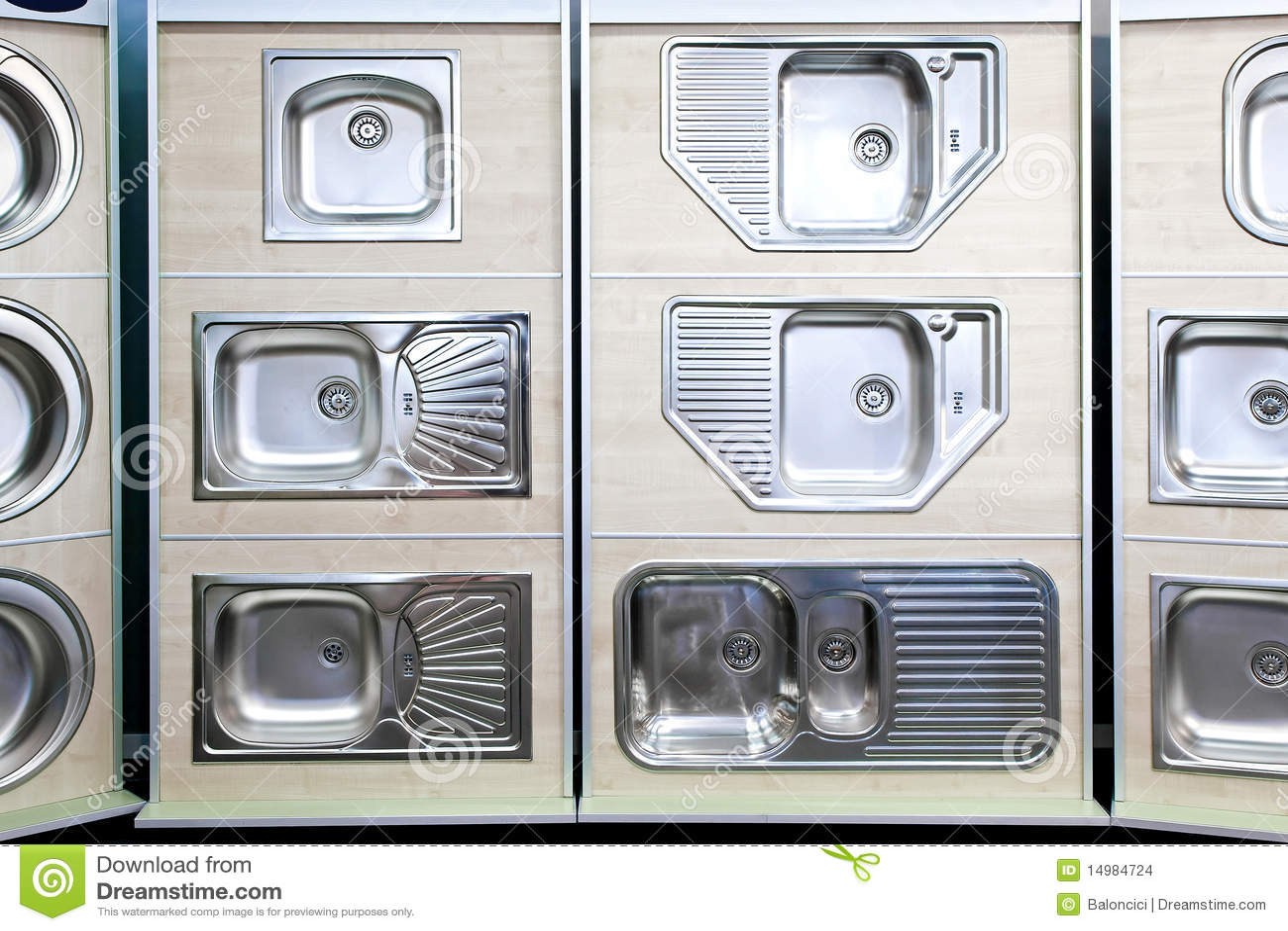 Fregaderos de cocina foto de archivo imagen de metal for Fregaderos modernos