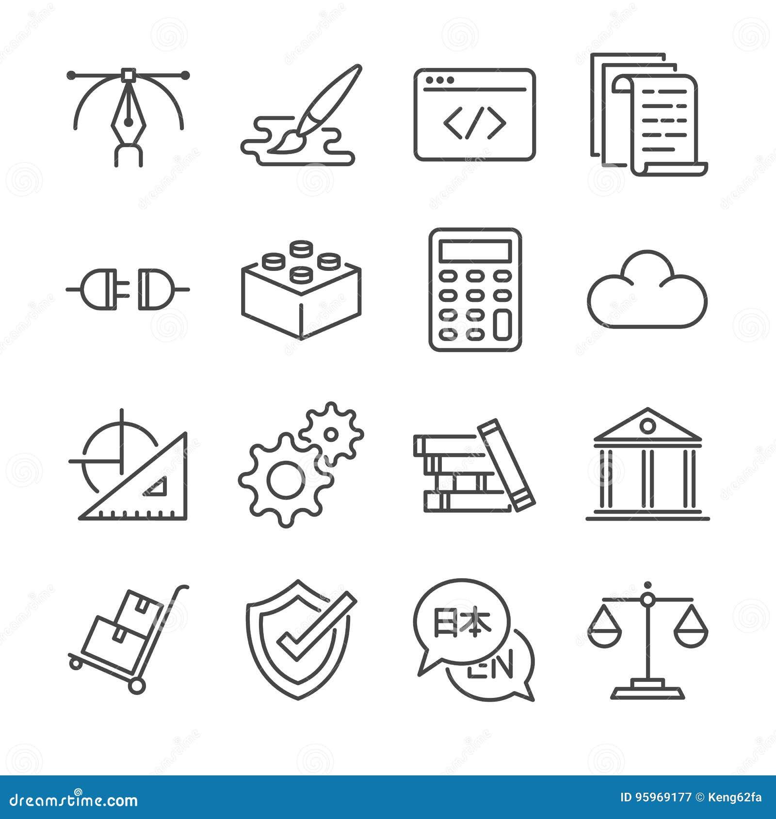 Freiberuflich tätige Joblinie Ikone stellte 1 ein Schloss die Ikonen als Grafikdesign, die Kodierung, logistisch ein, übersetzt,