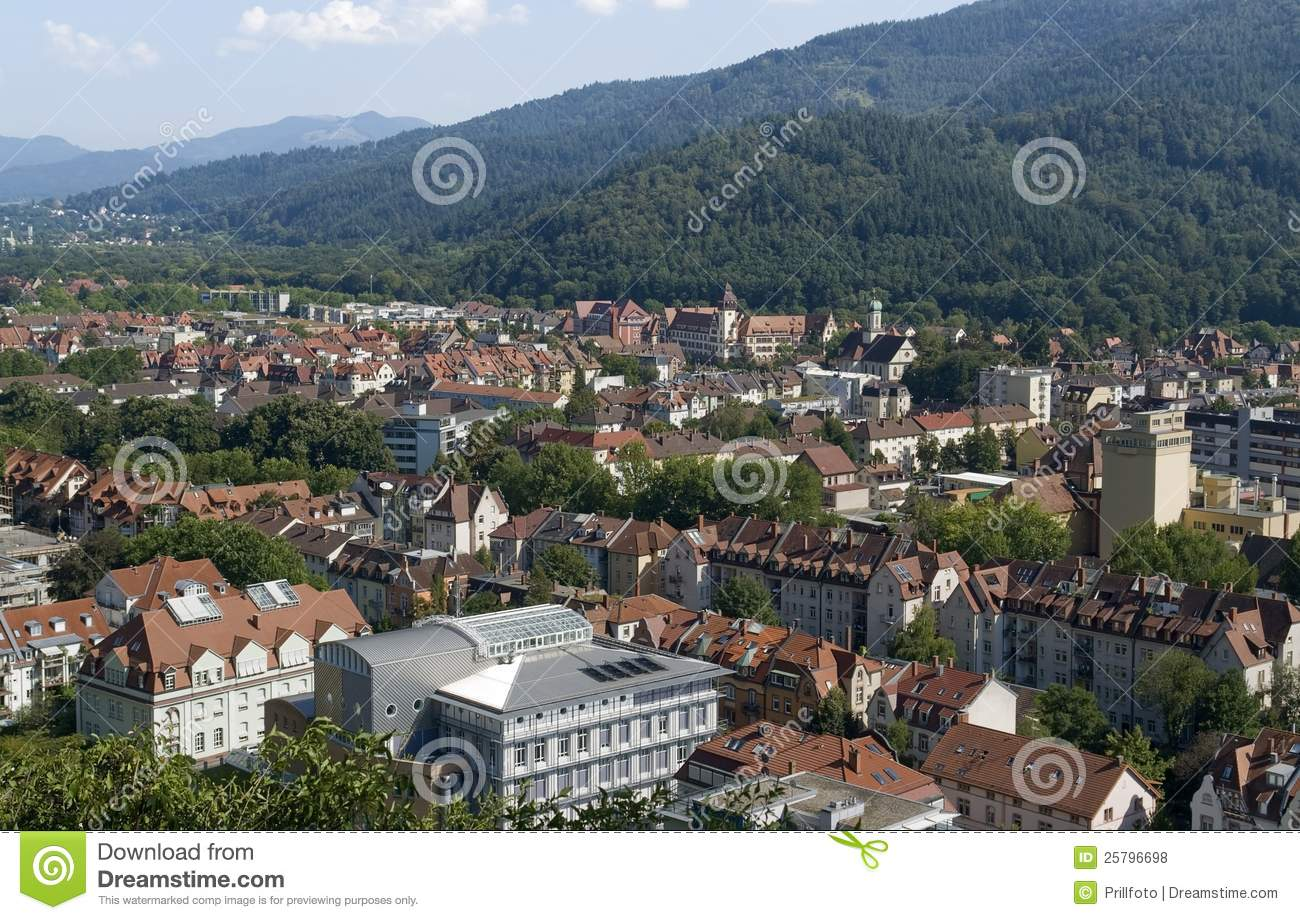 freiburg im breisgau aerial view royalty free stock photos image 25796698. Black Bedroom Furniture Sets. Home Design Ideas