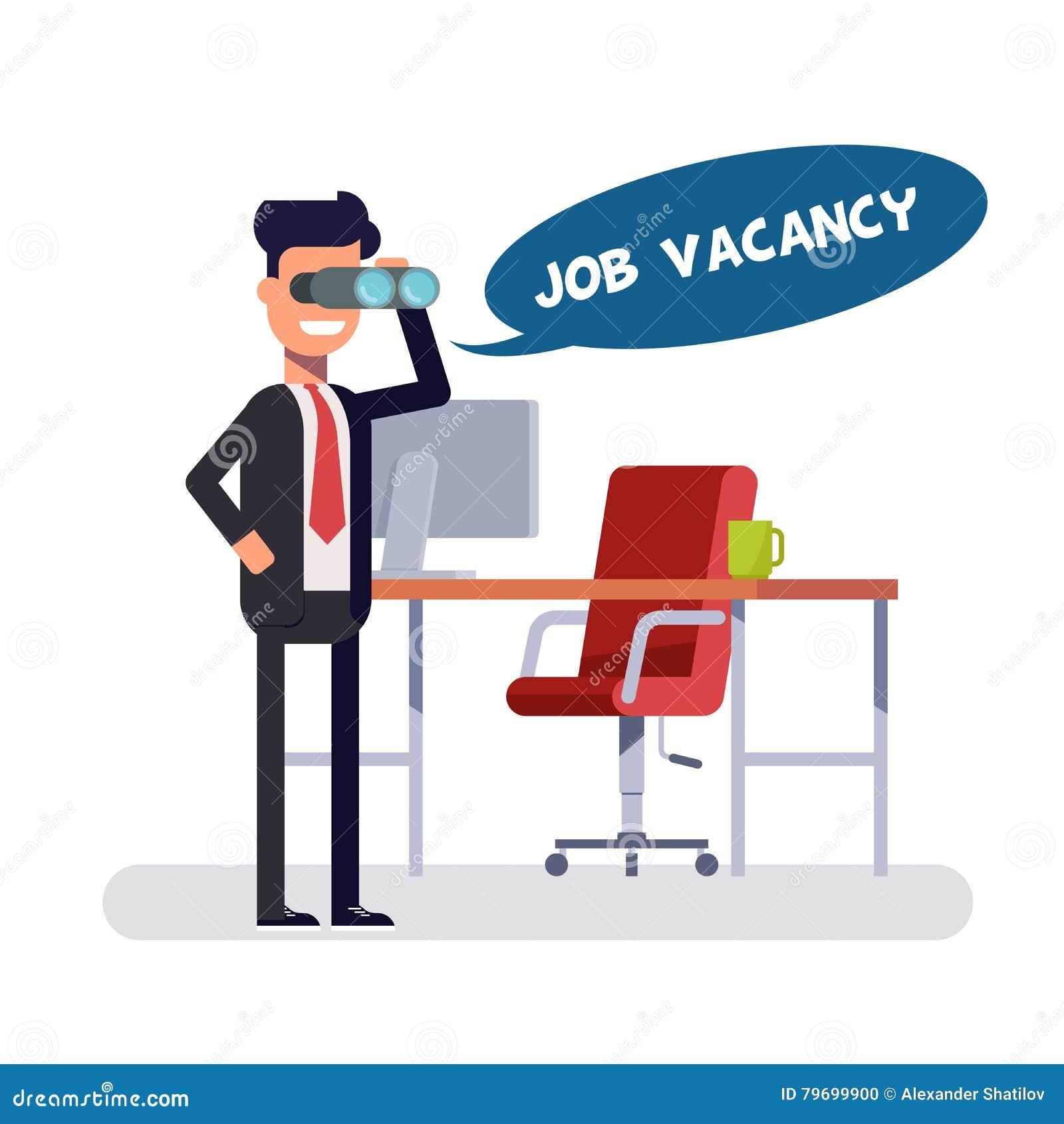 Freie freie Stelle für einen viel versprechenden Platz Führer schaut neue Angestellte Kopf auf der Suche nach in Position zu brin