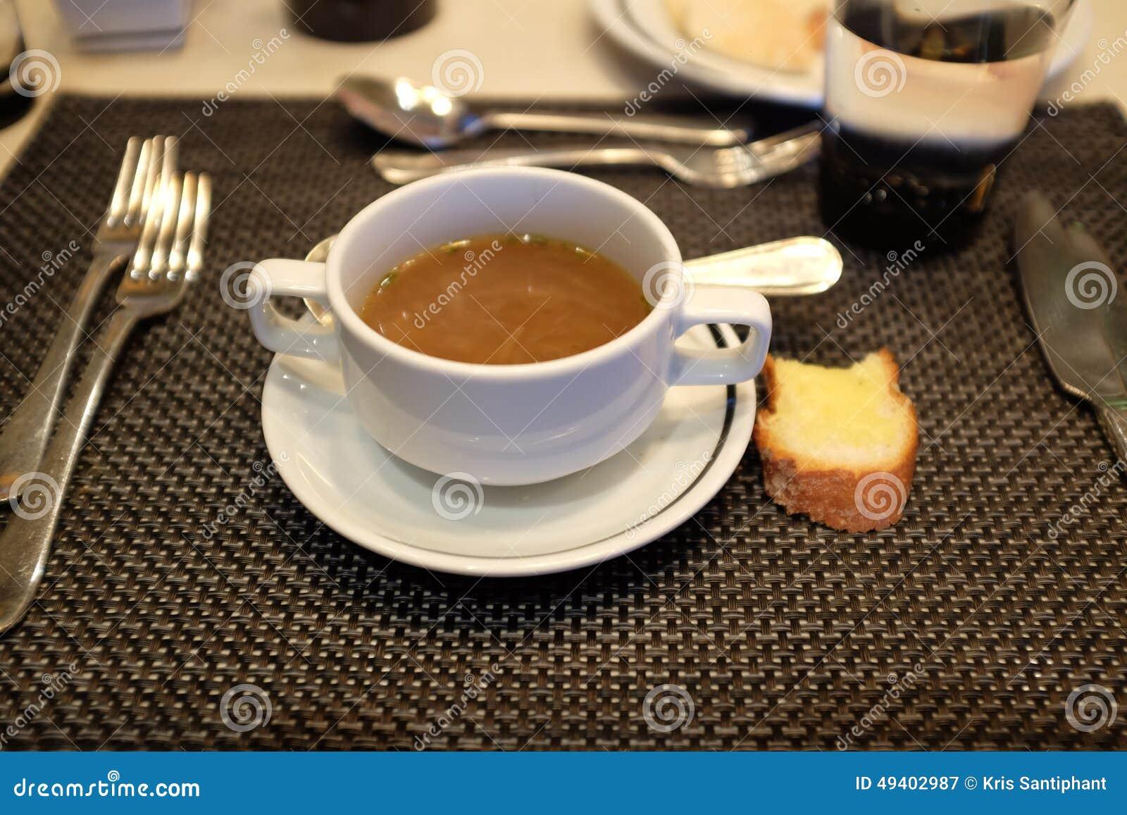 Download Freie Suppe stockbild. Bild von abendessen, buffet, zwiebel - 49402987