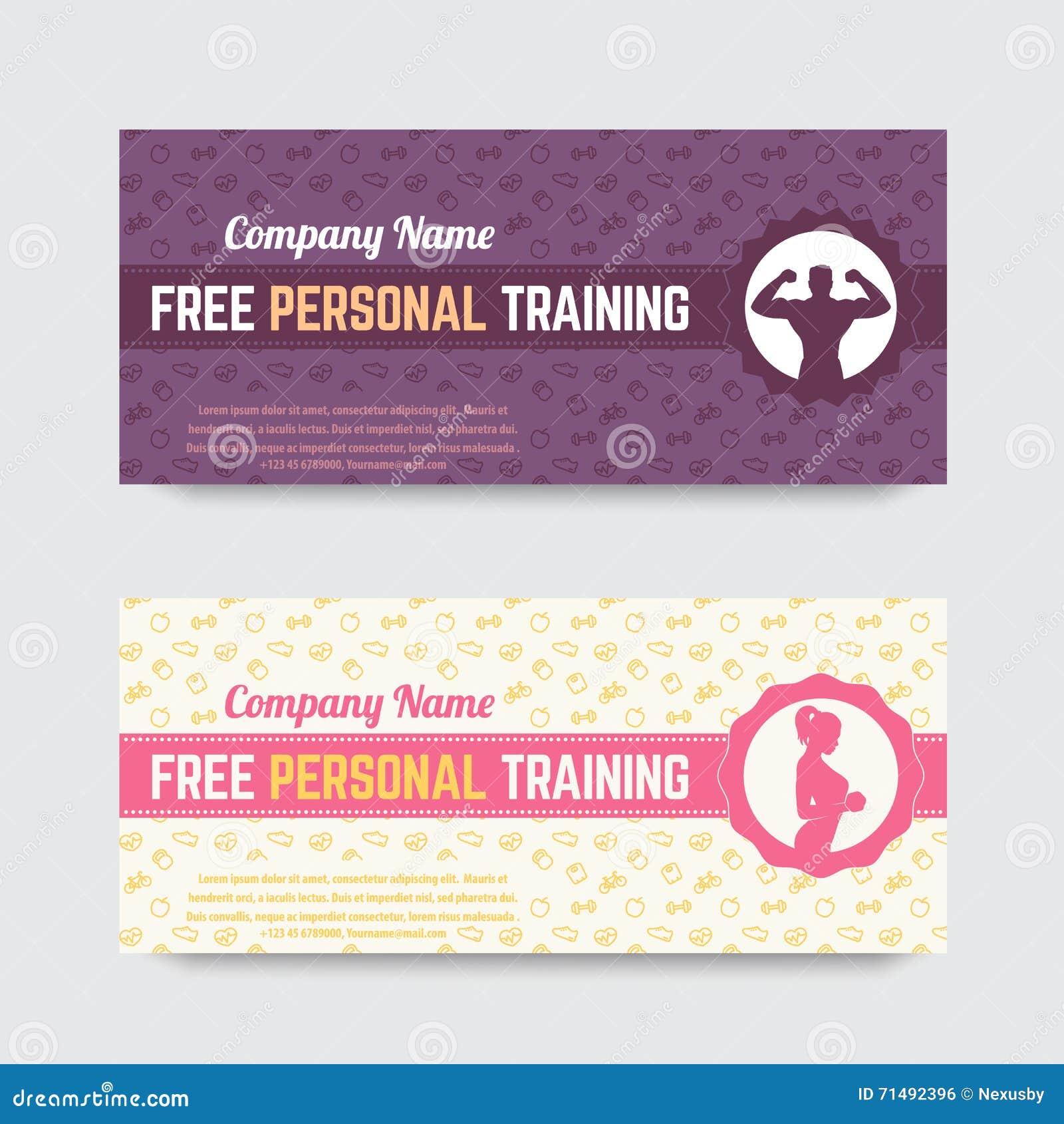 Funky Personal Training Geschenkgutschein Schablone Pattern ...