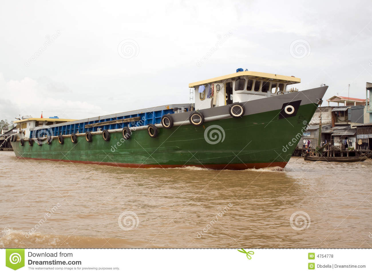 Freight boat on Mekong Delta