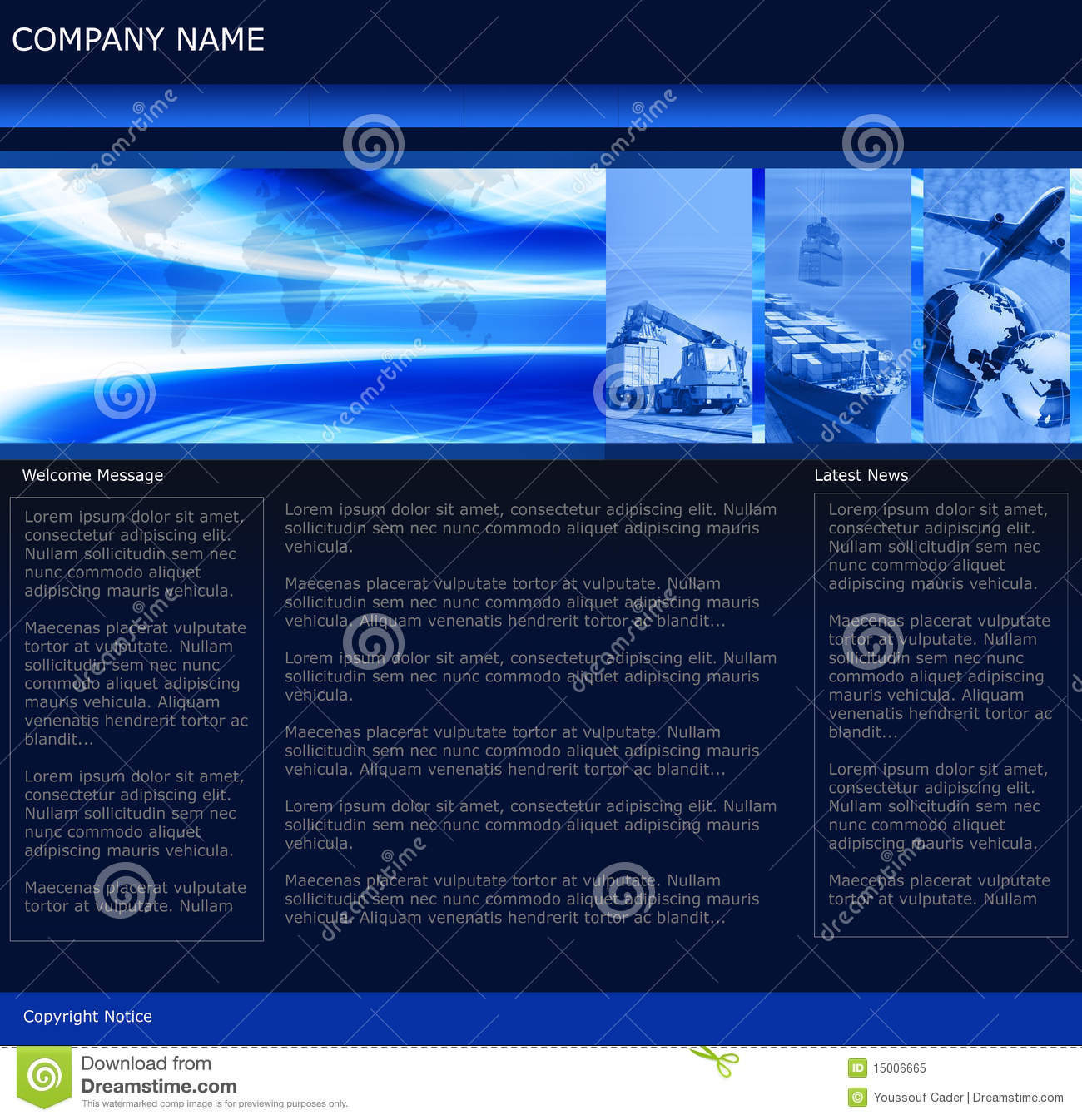 Freight Business Website Template Royalty Free Stock Photo - Image ...