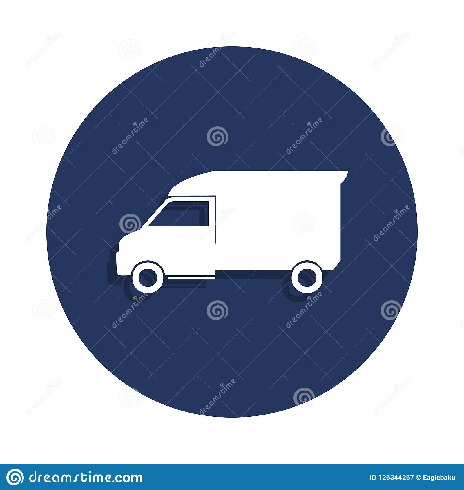 Freight Car Icon In Badge Style One Of Cars Collection Icon Can Be