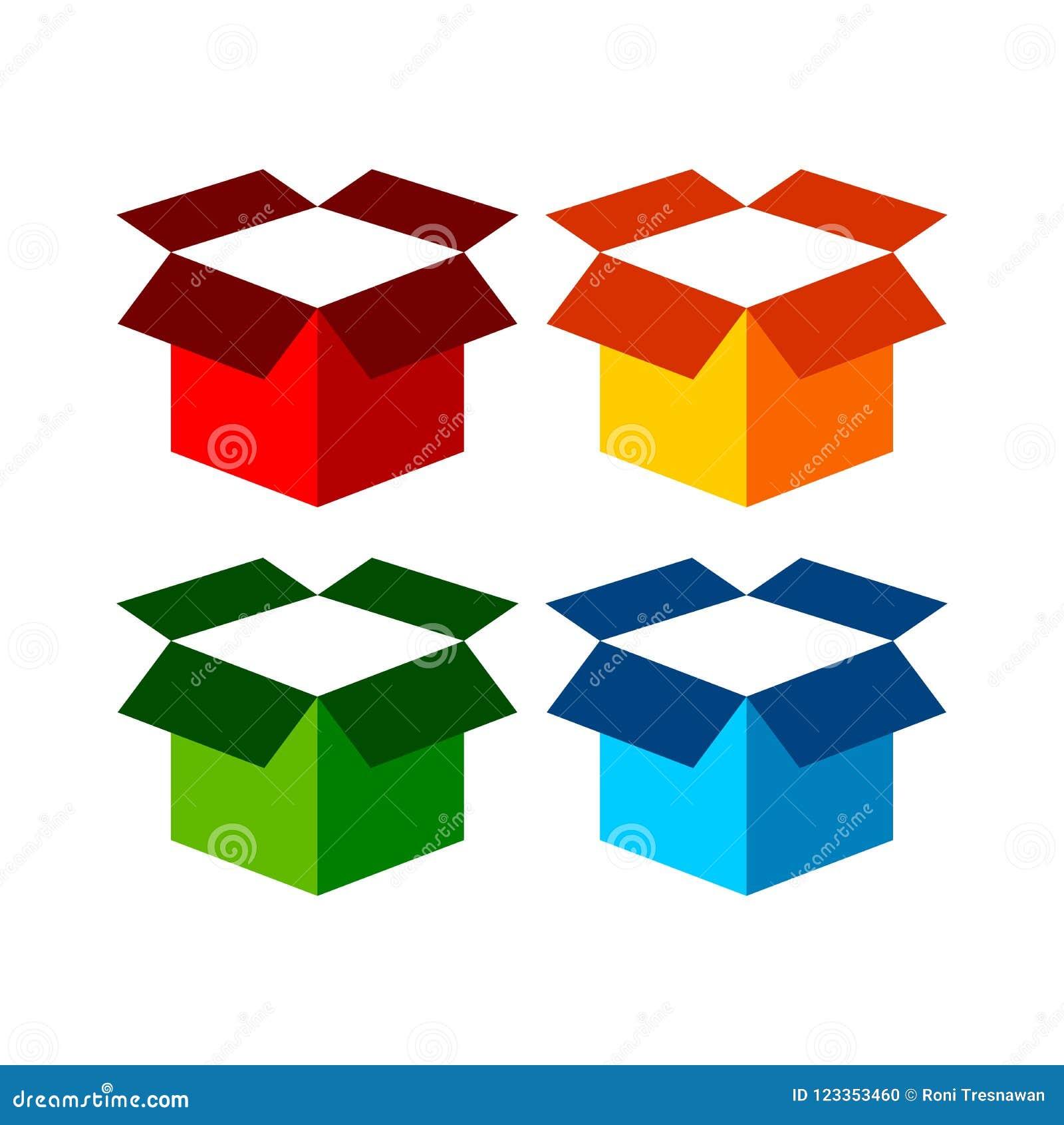 Freight Open Box Icon Symbol Graphic Design Stock Vector