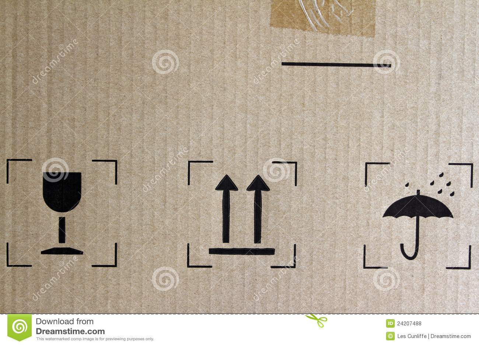 Freight Symbols Stock Illustration Illustration Of Fragile 24207488