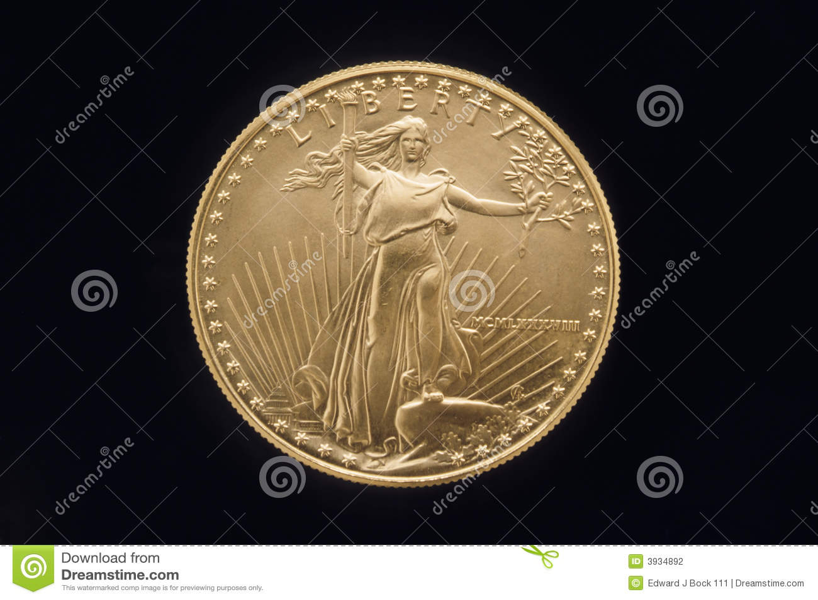 Freiheit-Goldmünze