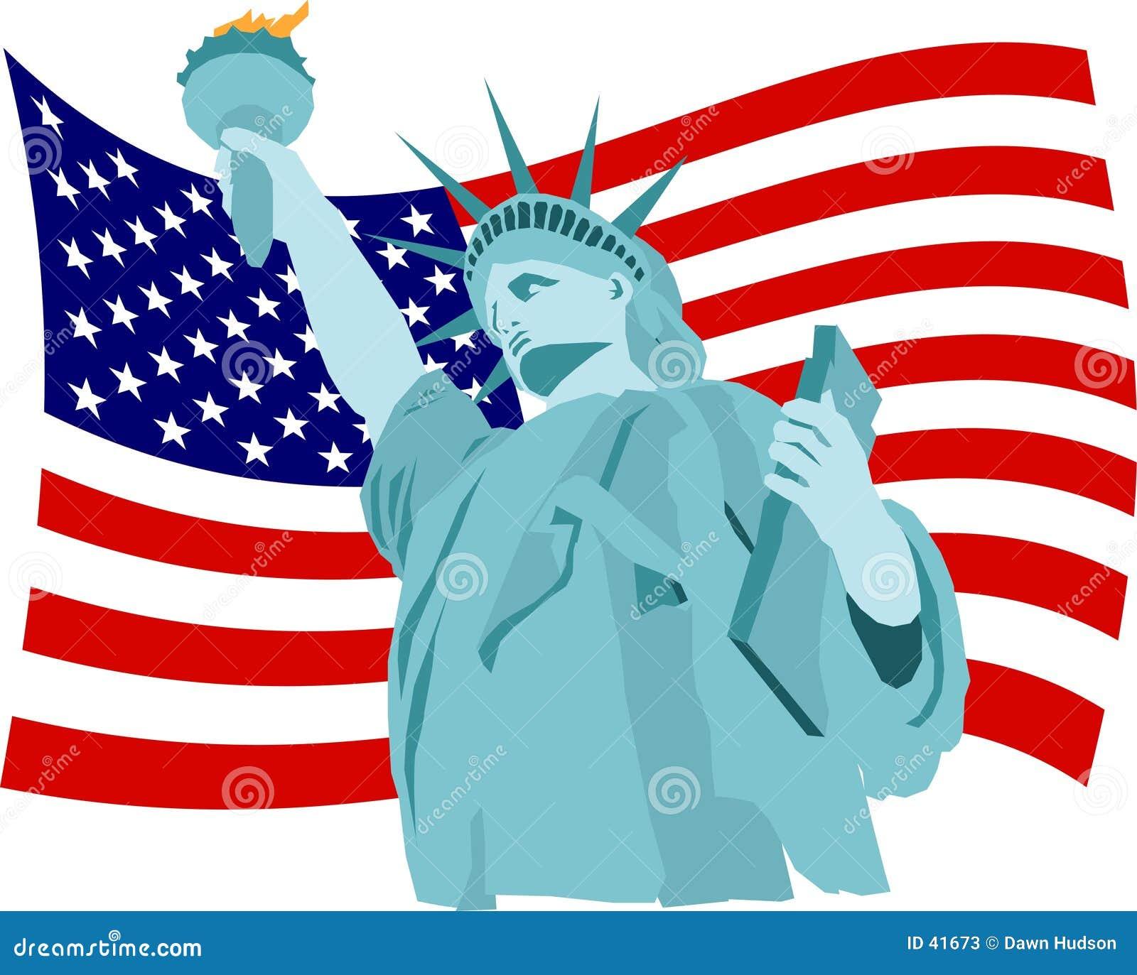Freiheit-Markierungsfahne