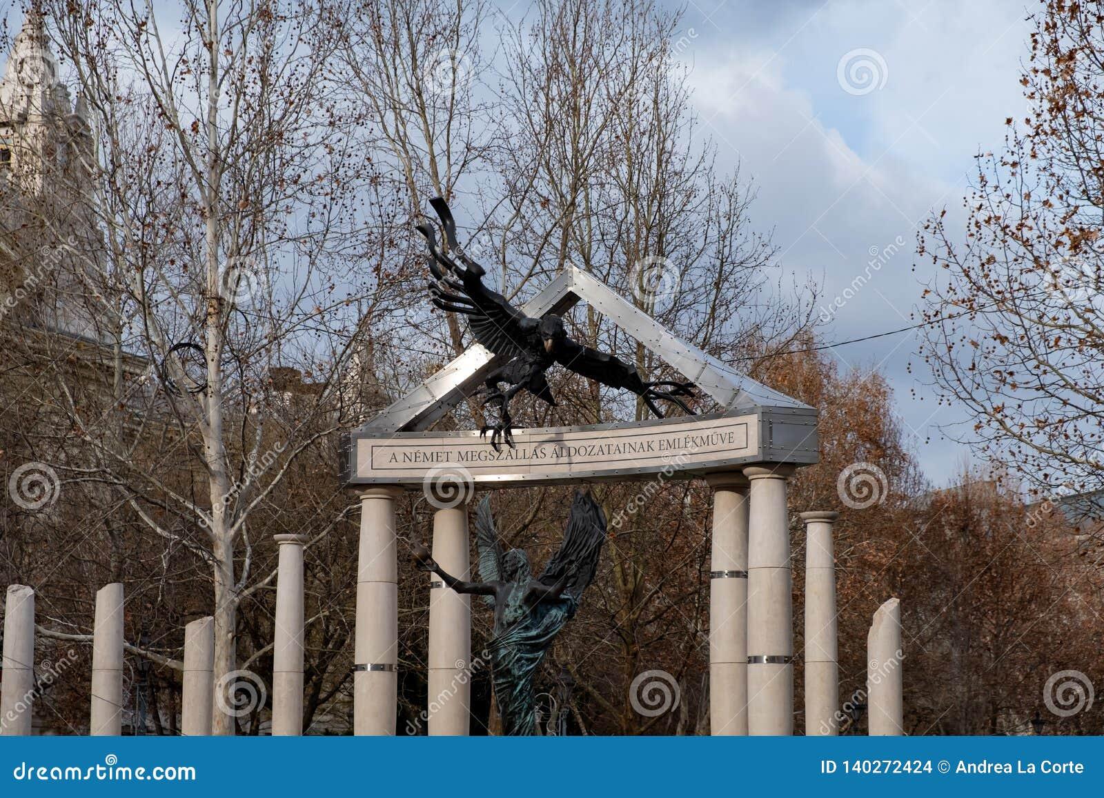Freiheits-Quadrat Monumente zu den Opfern des deutschen und ungarischen Nazismus