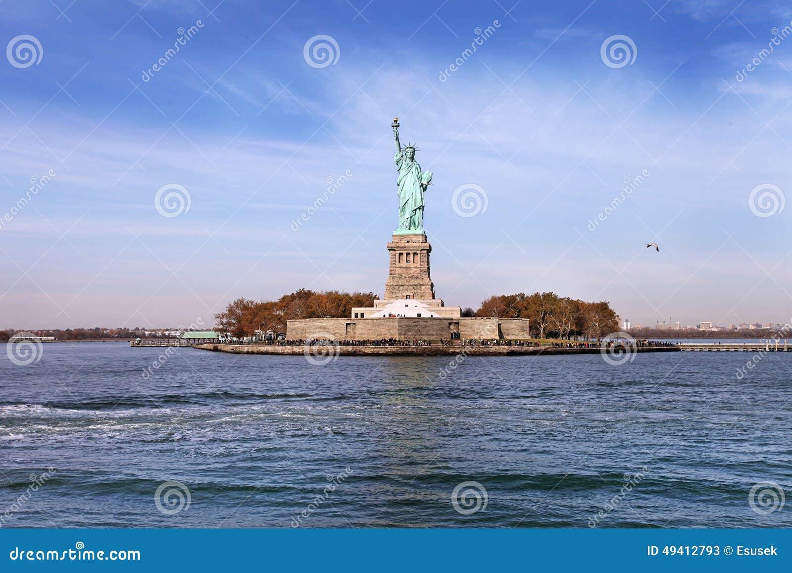 Download Freiheitsstatue, New York City Stockbild - Bild von anziehung, hauptstadt: 49412793